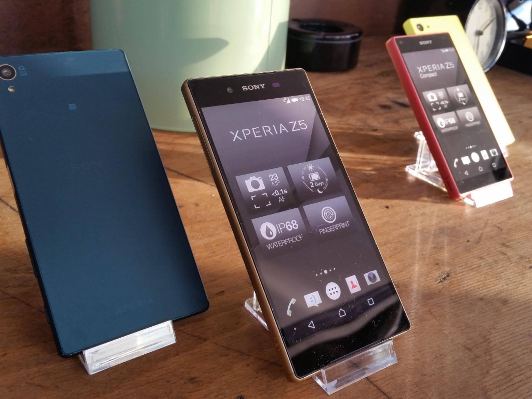 Unbestreitbar eines der Highlights: die neuen Xperia-Modelle von Sony.