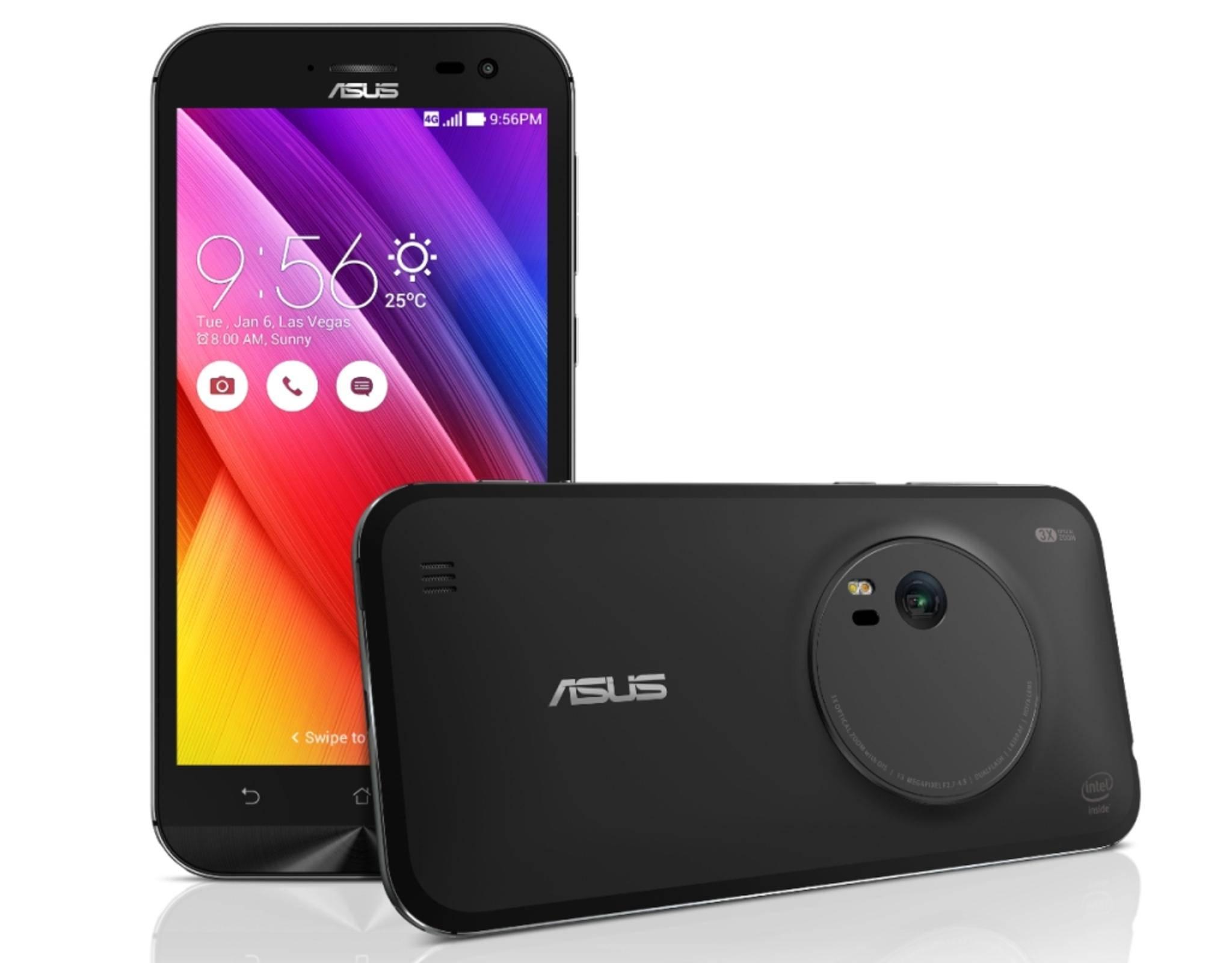Das Asus ZenFone Zoom wird es in schwarz und weiß geben.