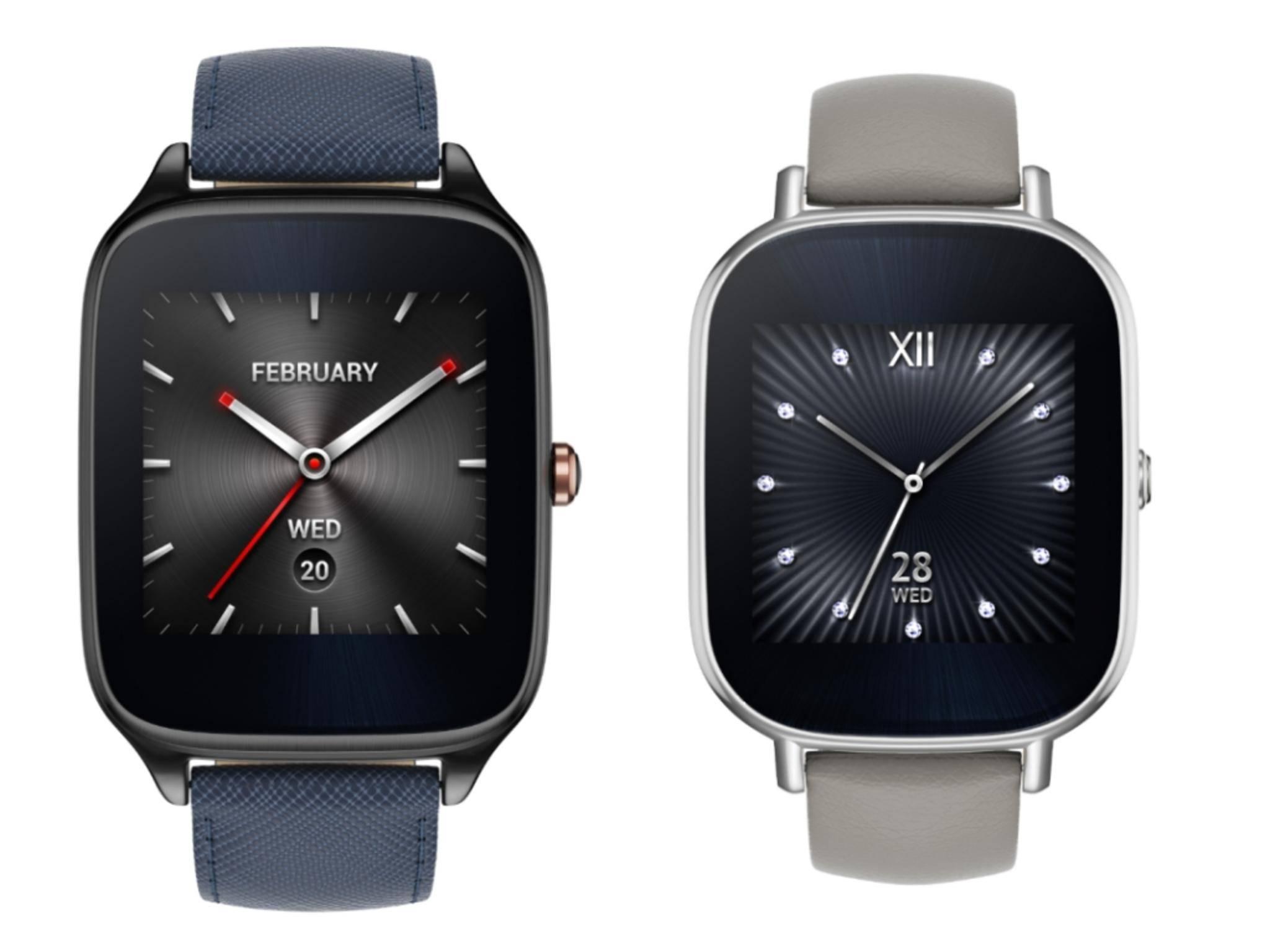 Die ZenWatch 2 wird es in drei Farben und mit wechselbaren Armbändern geben.
