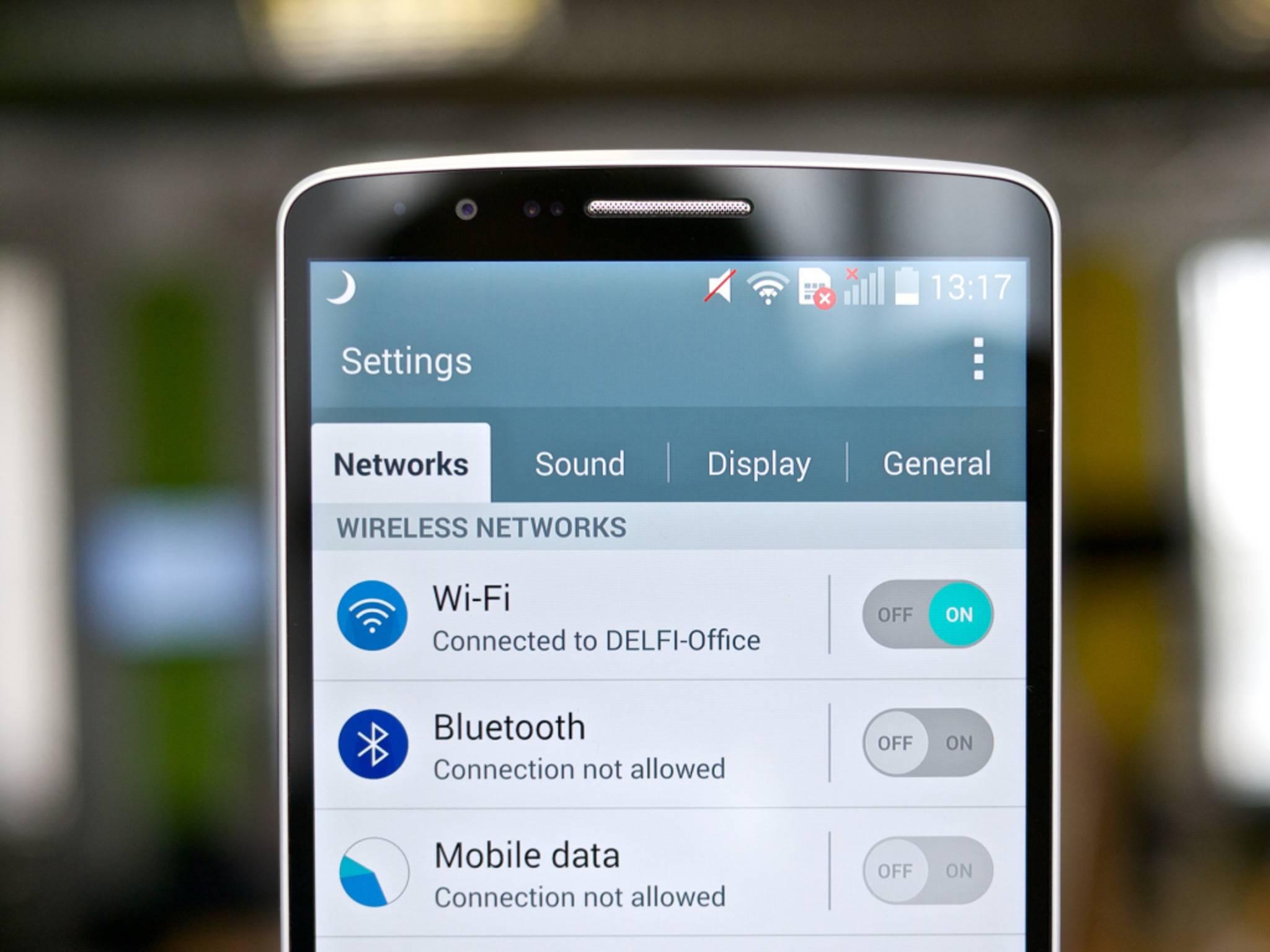 Erste Anlaufstelle: Die Android-WLAN-Einstellungen.