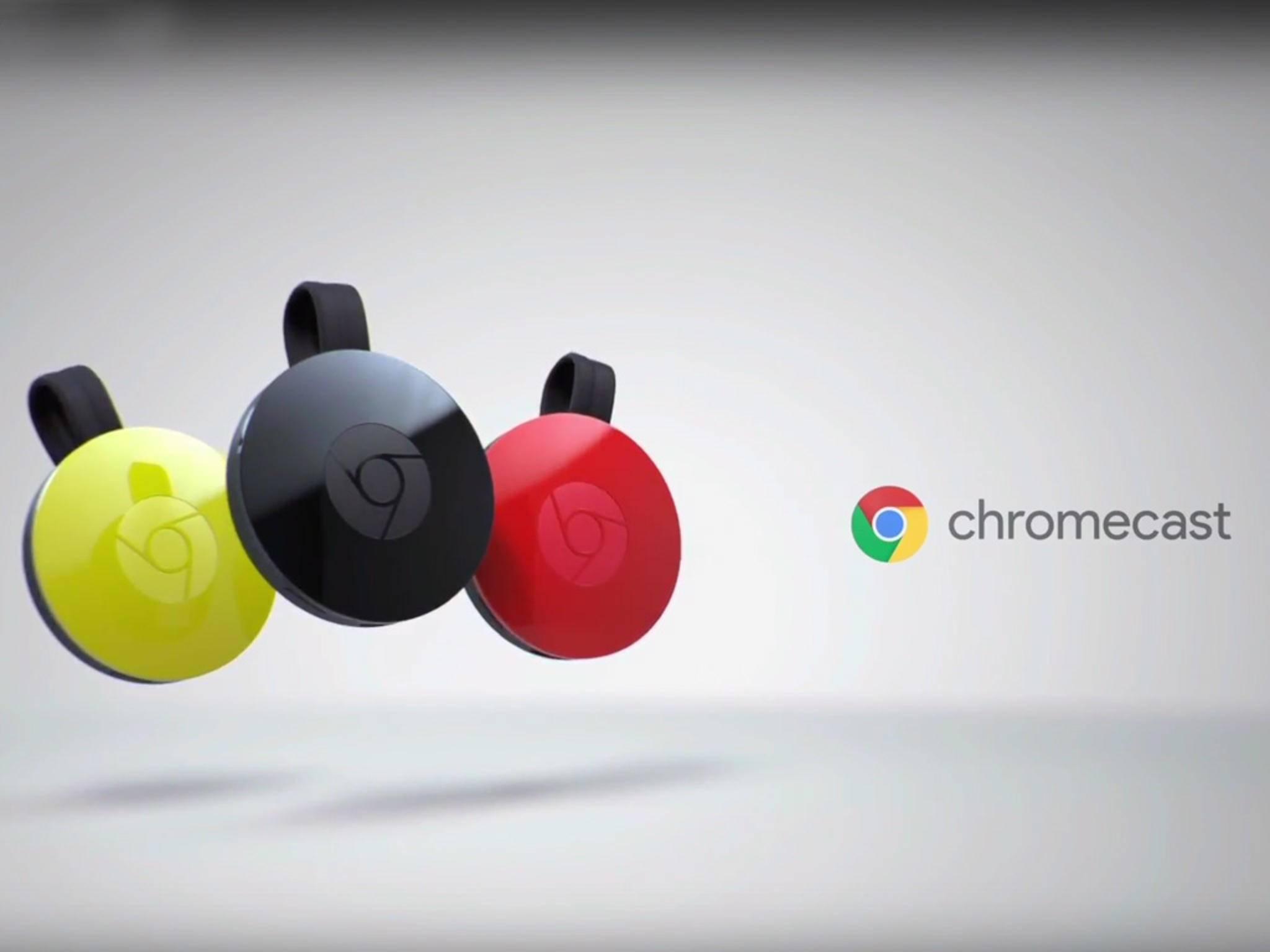 Chromecast 2 ist in drei Farben erhältlich.