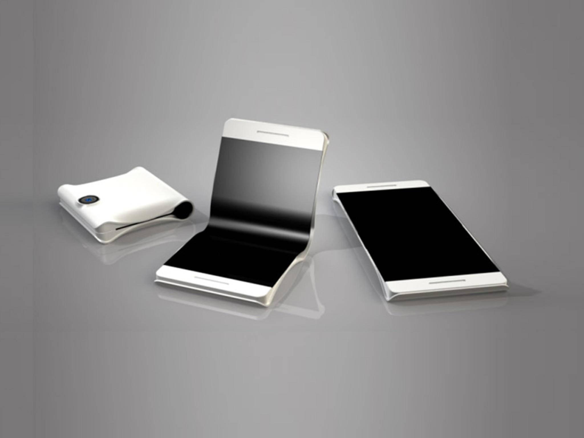 Wird das erste faltbare Smartphone von Samsung aussehen, wie diese Konzeptstudie?