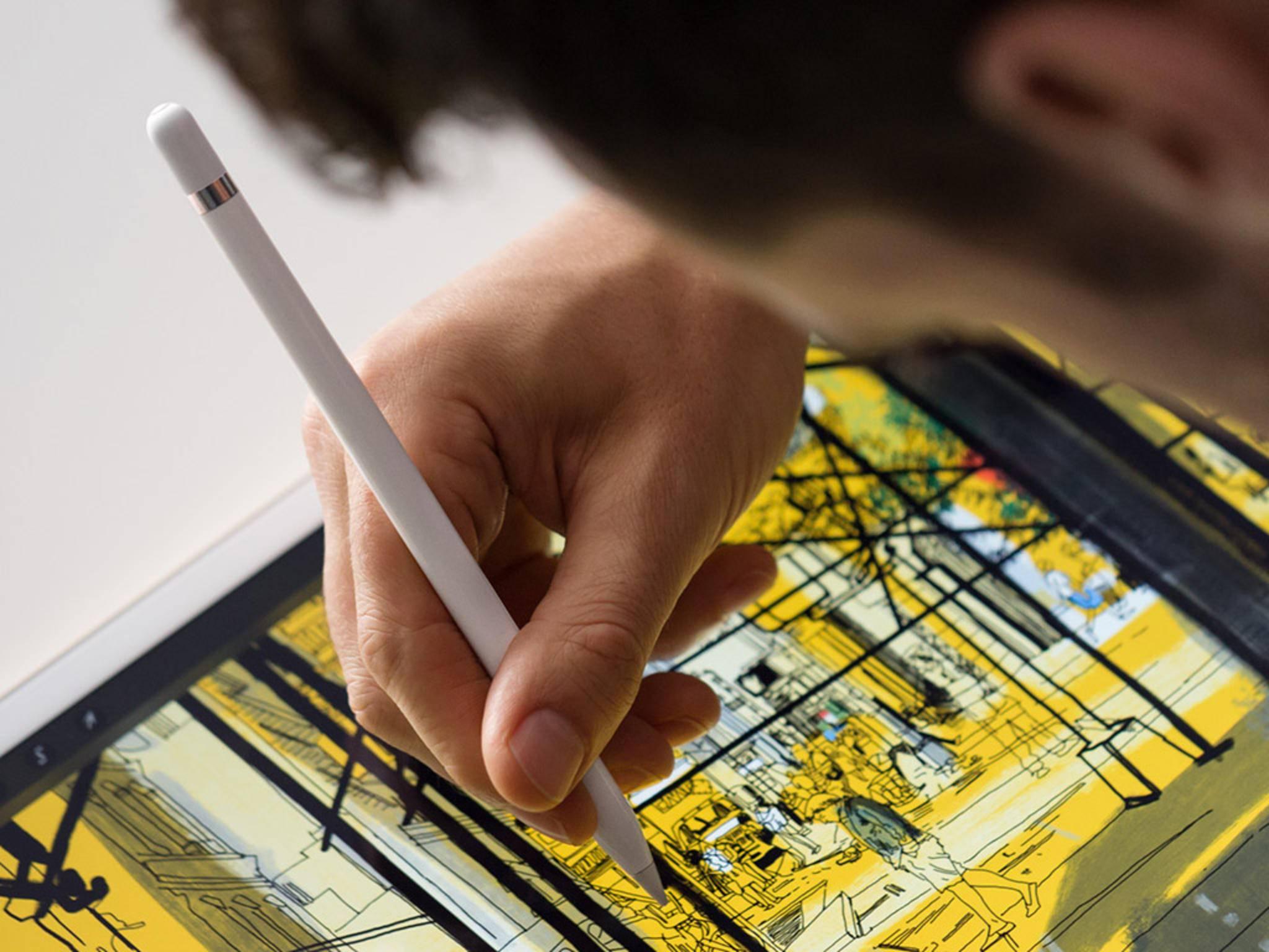 Der Apple Pencil kommt als Zubehör zum iPad Pro.