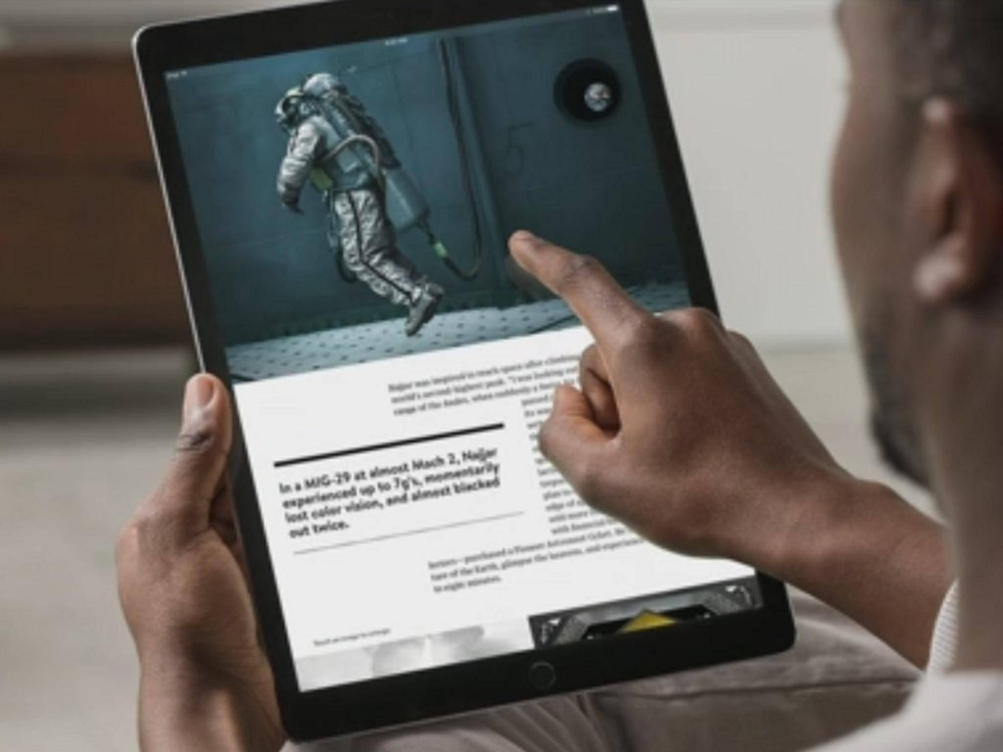 Das iPad Pro hat einen Screen mit 12,9 Zoll.