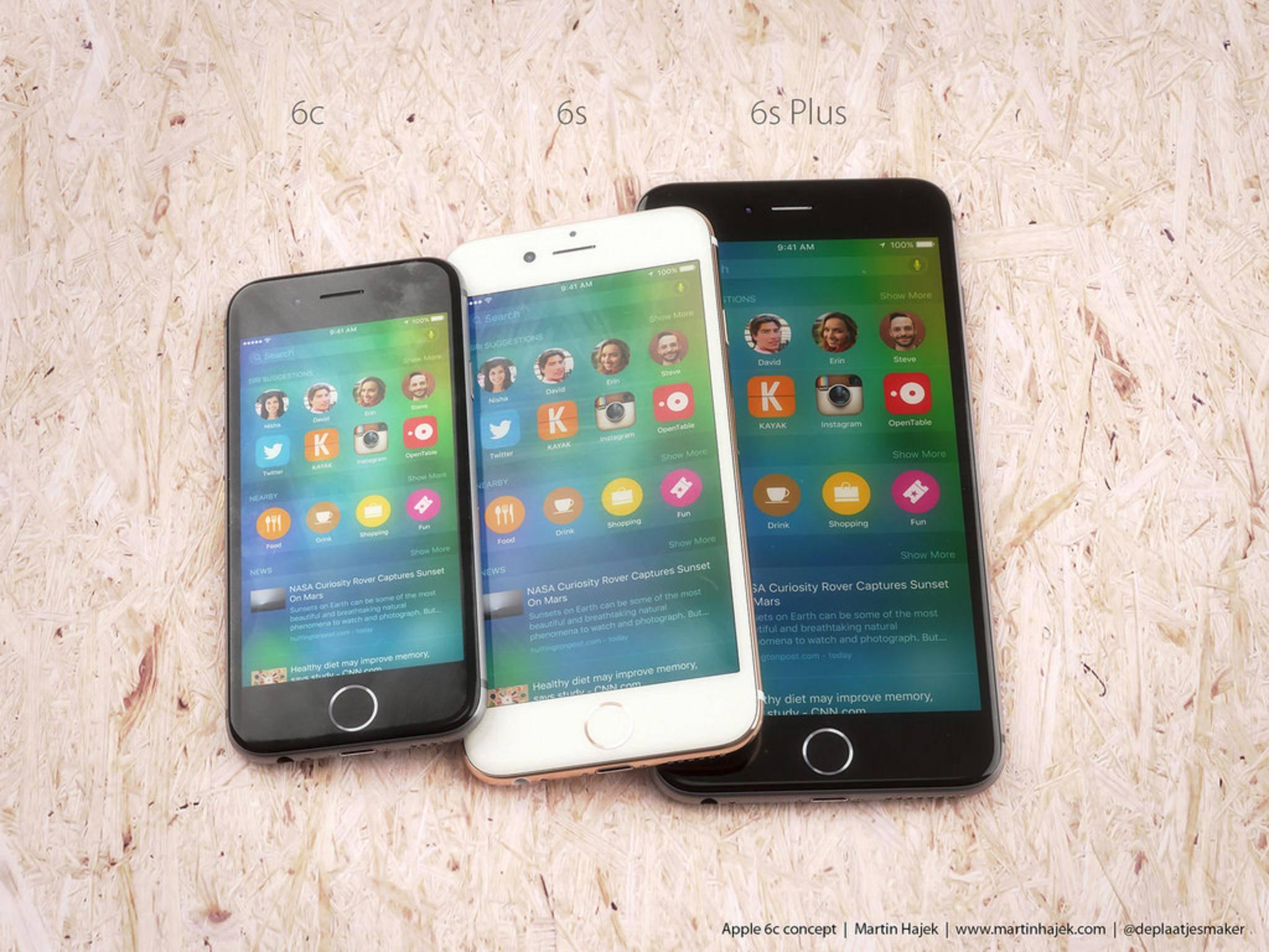 In einem Konzept zeigt sich das iPhone 6c mit 4 Zoll-Screen.