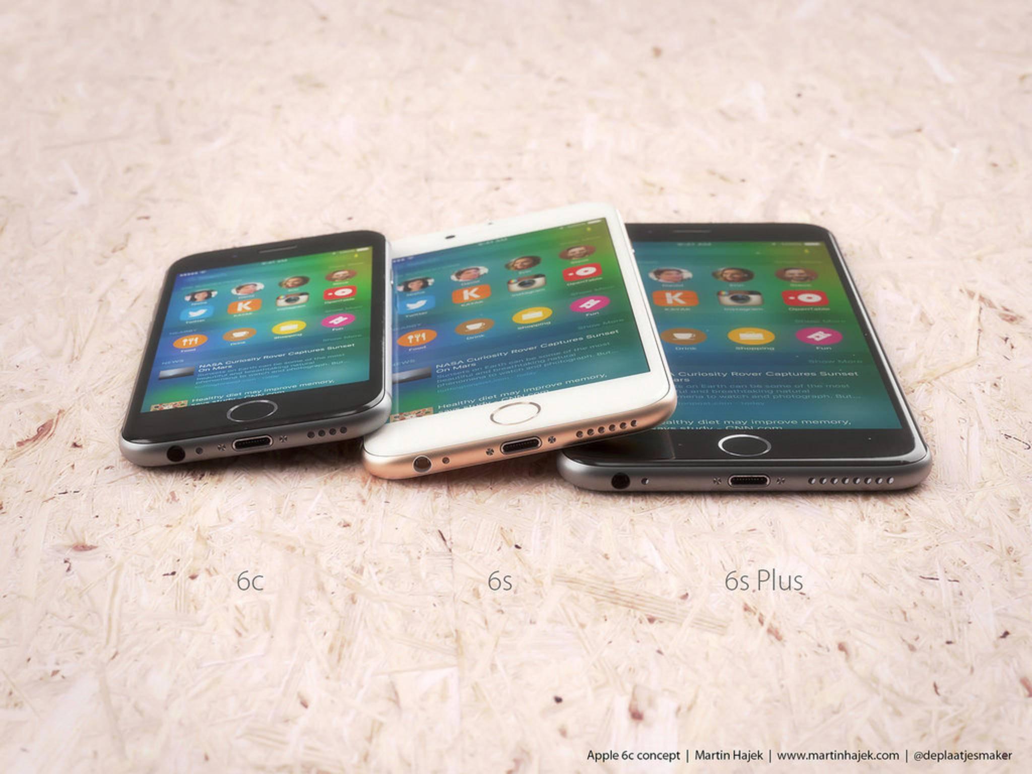 Anders als das iPhone 5c setzt das iPhone 6c auf Metall.