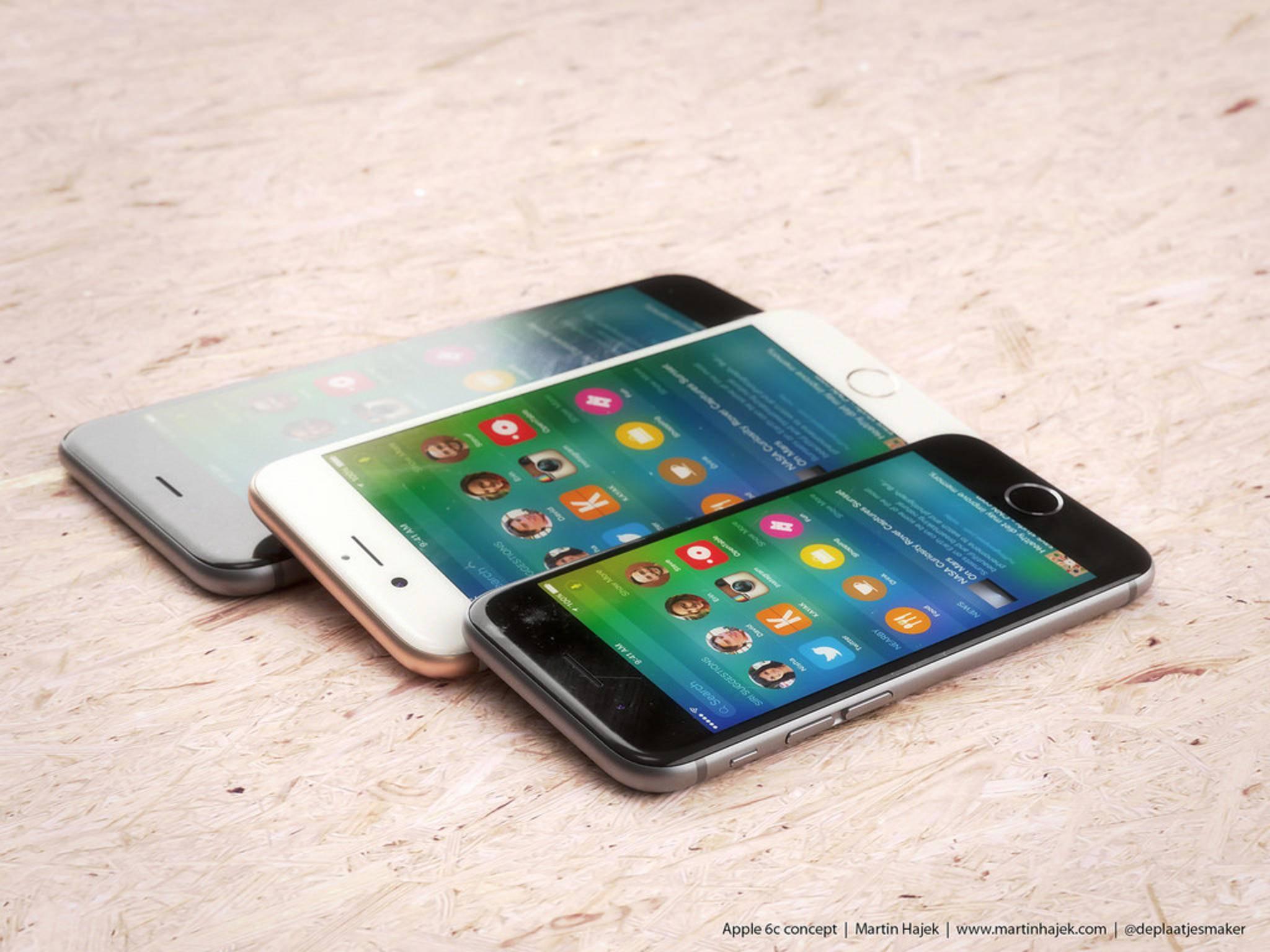 Die Bildschirmdiagonale des iPhone 6c beträgt 4 Zoll.