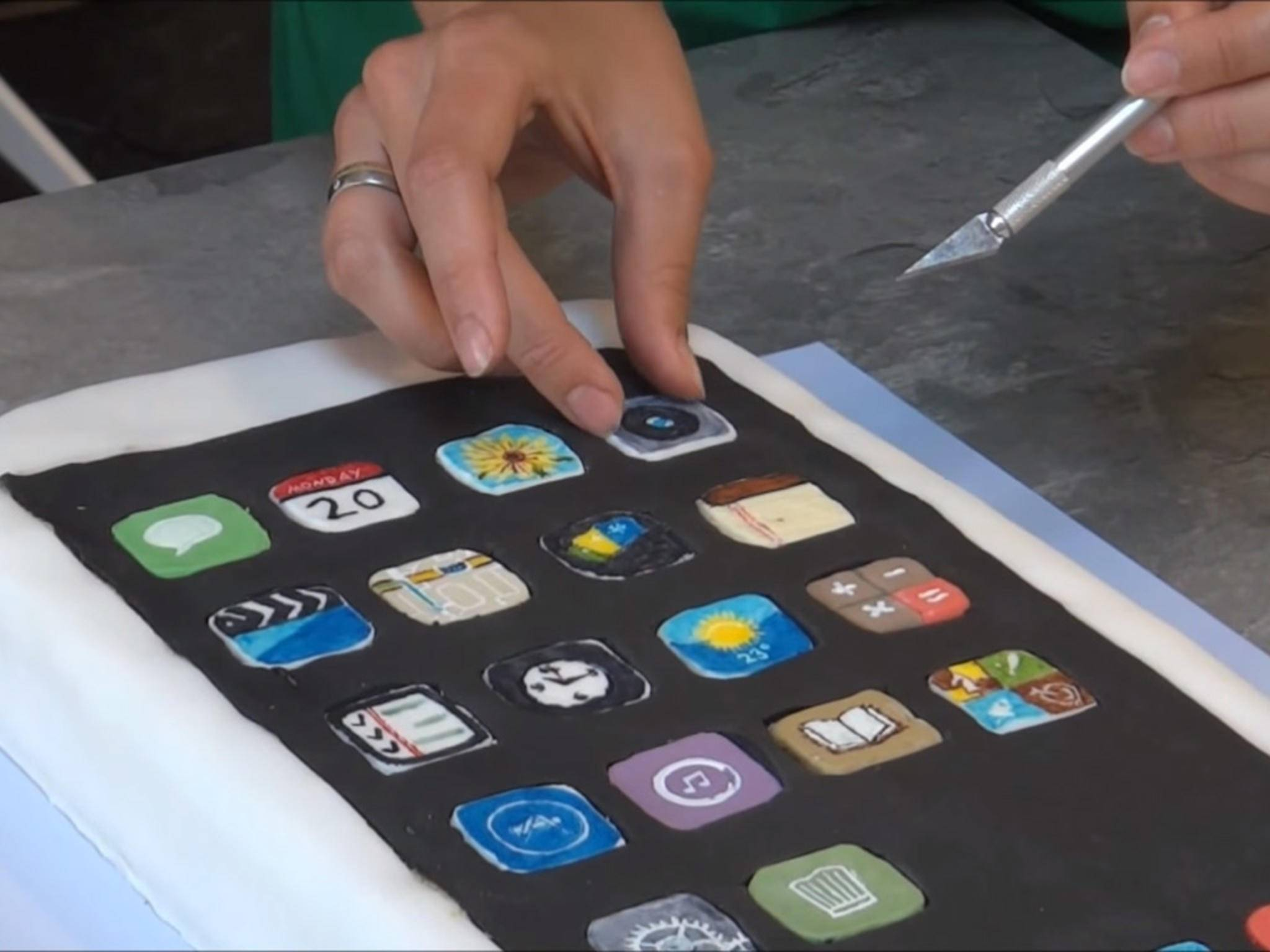 iPhone Kuchen backen