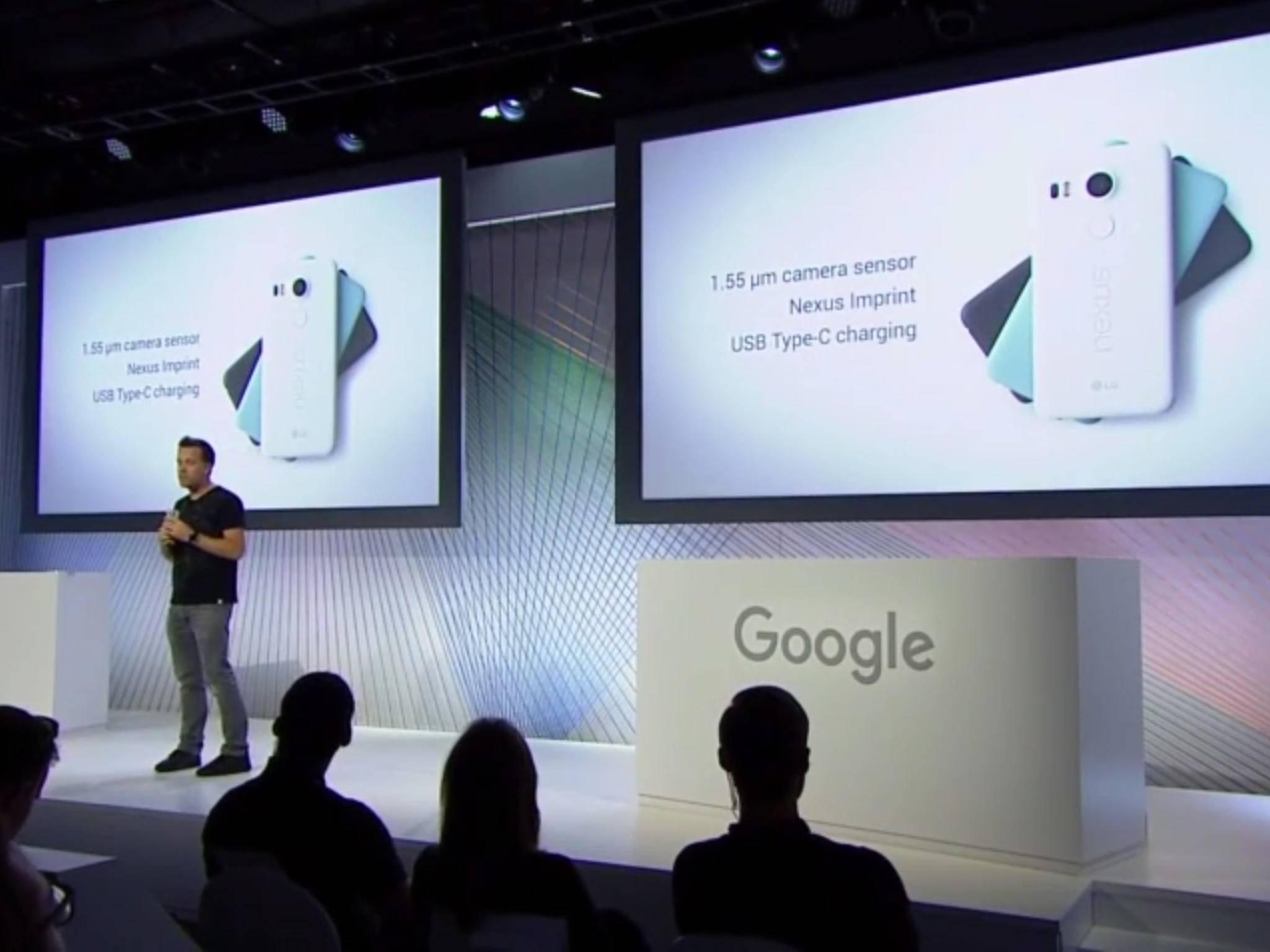 Auf dem Google Event wurde auch das Nexus 5X präsentiert.