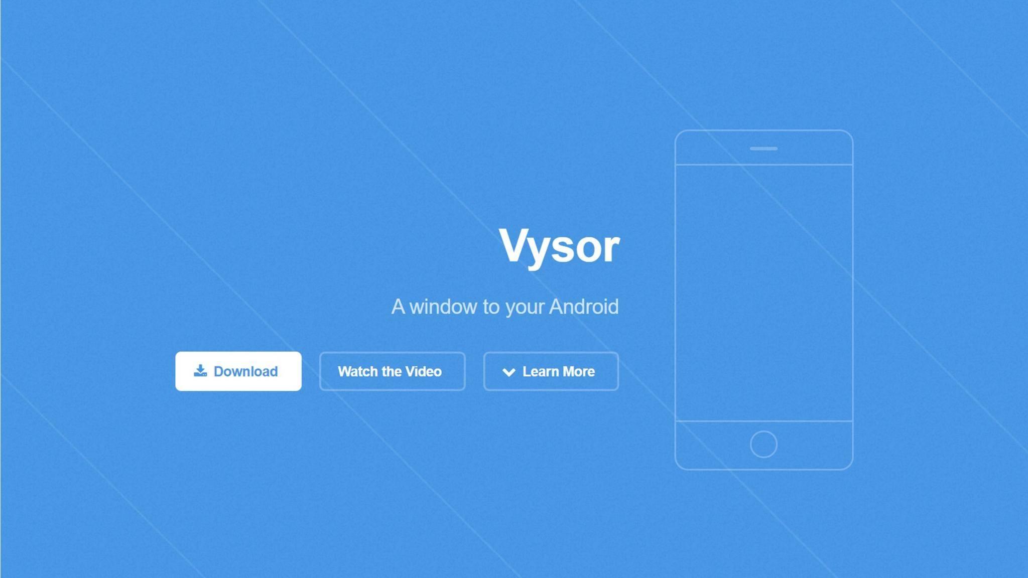 Mit Vysor spiegelst Du Dein Android-Handy auf den Rechner.
