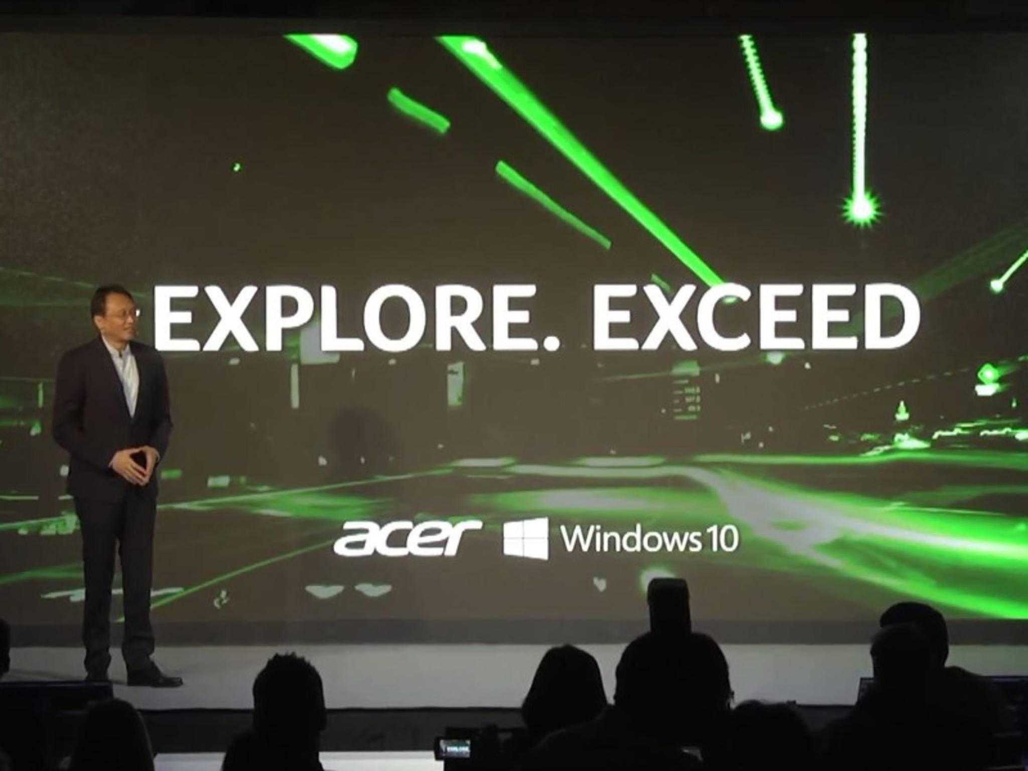 Acer hat eine Reihe neuer Windows 10-Produkte vorgestellt.