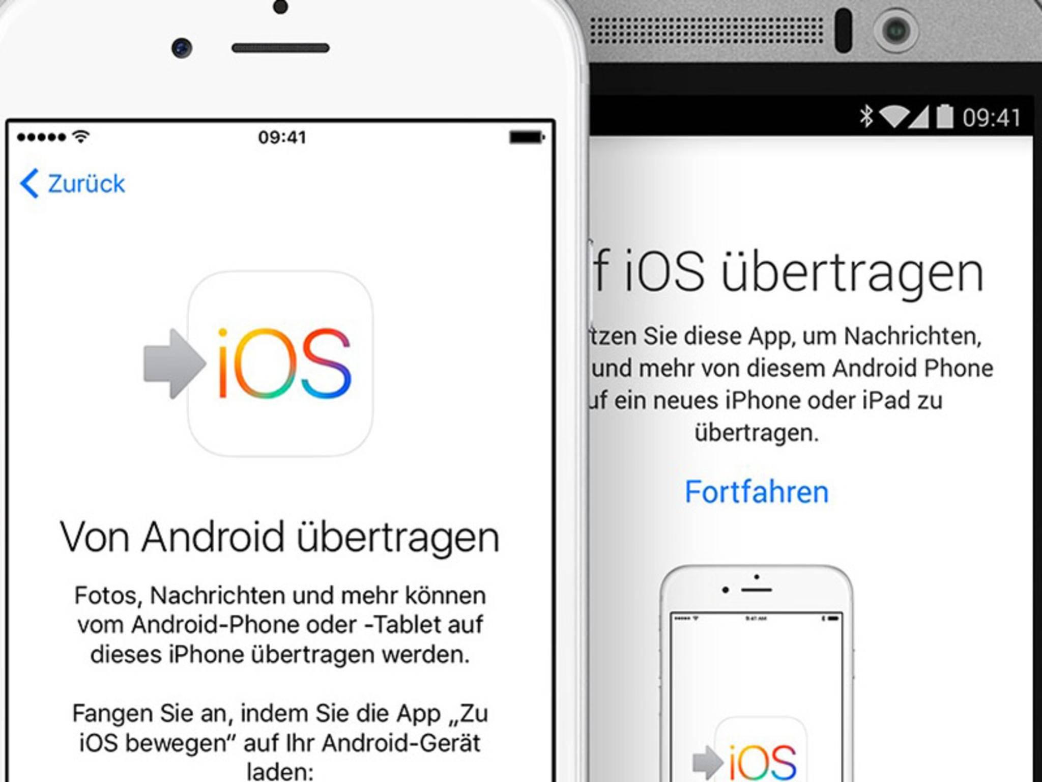 Apple hat inzwischen auch eine eigene App für Android-Umsteiger.