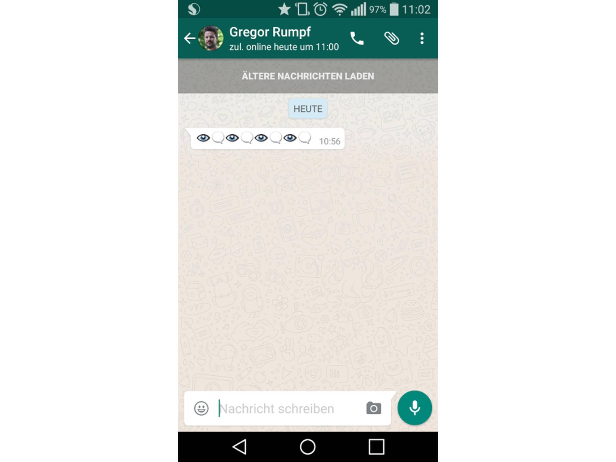 Augen-Emoji unter Android