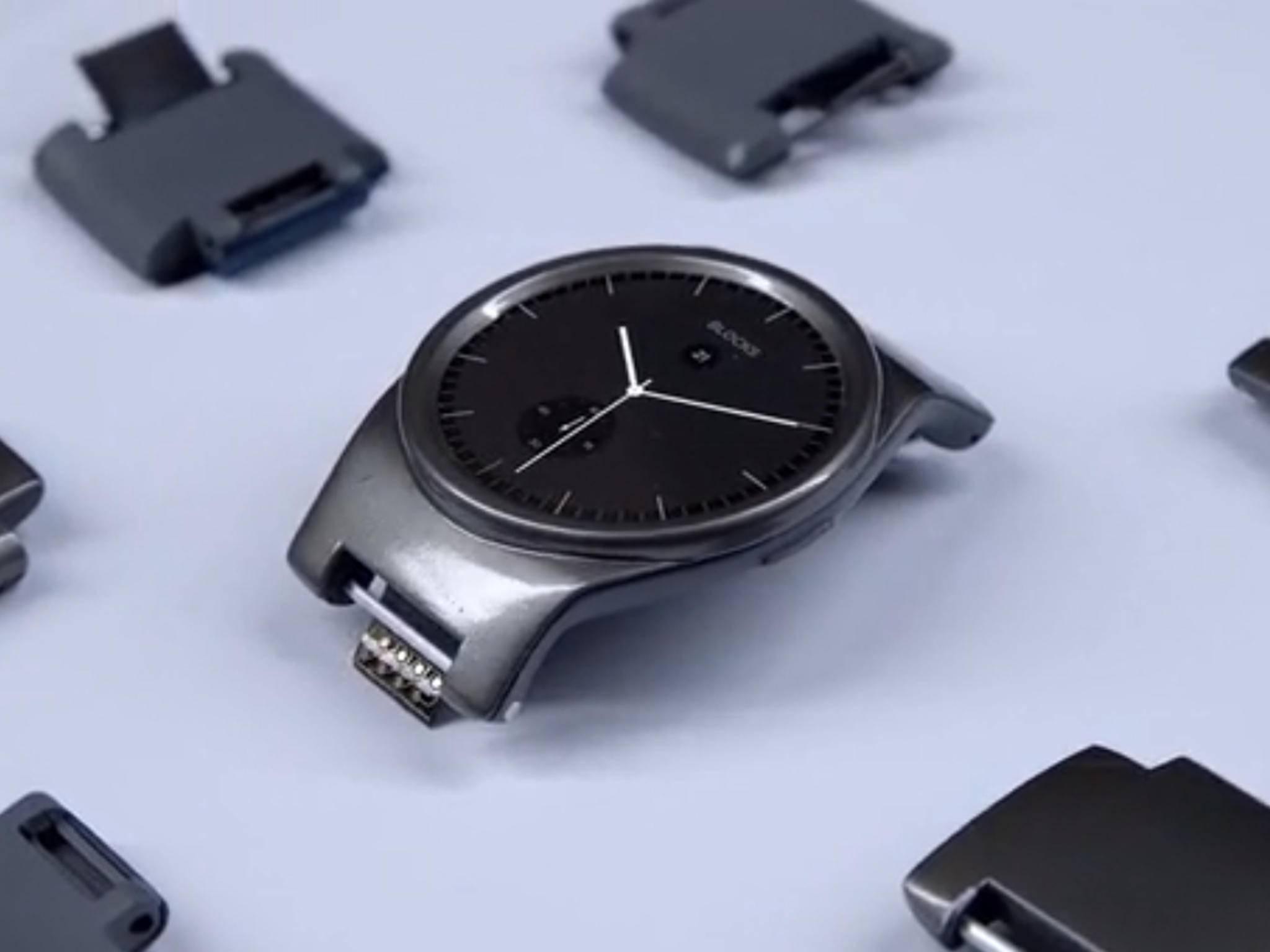 Die Smartwatch Blocks setzt auf praktische Module.