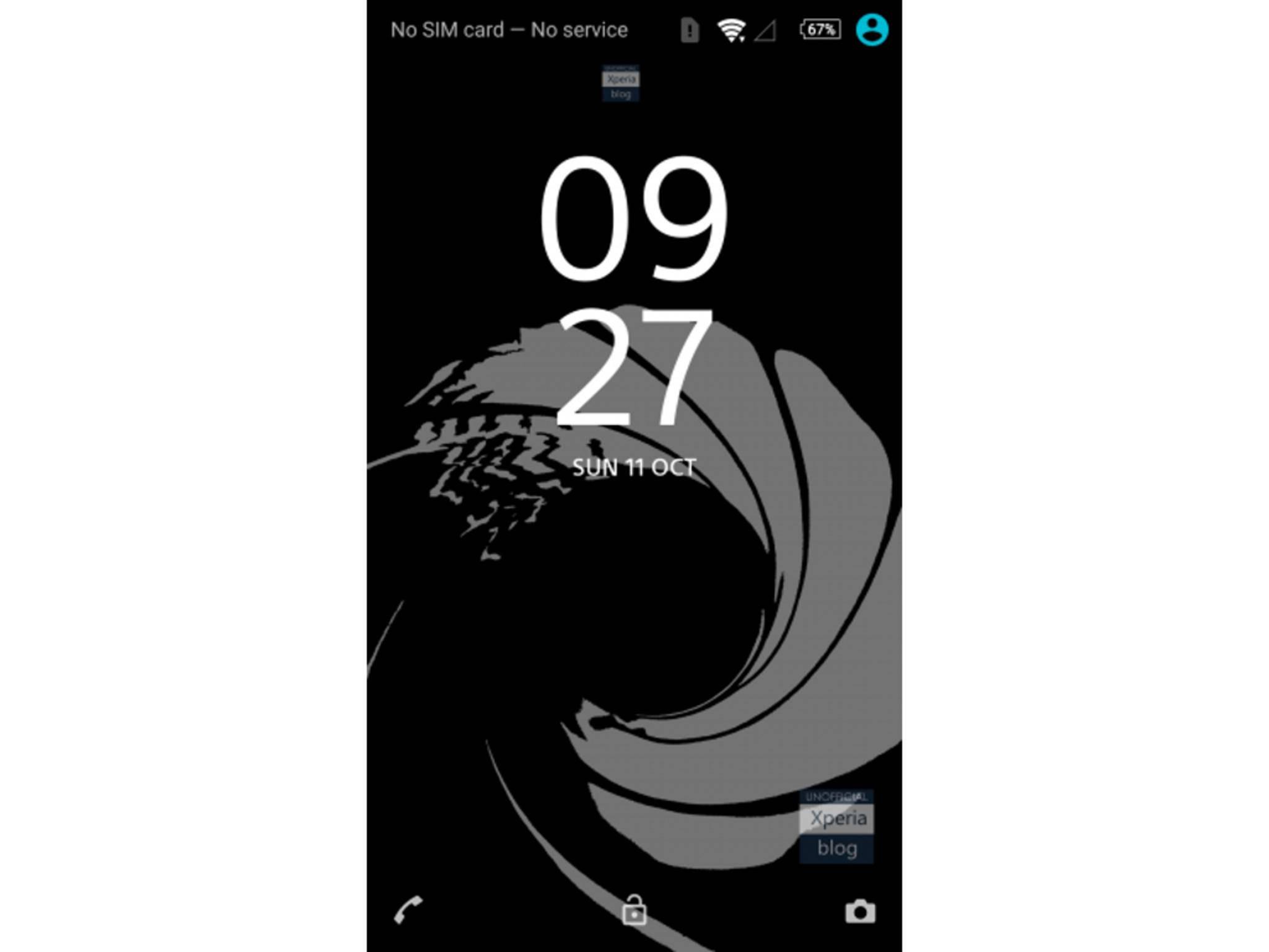 So sieht das Bond-Theme fürs Sony Xperia Z5 aus.