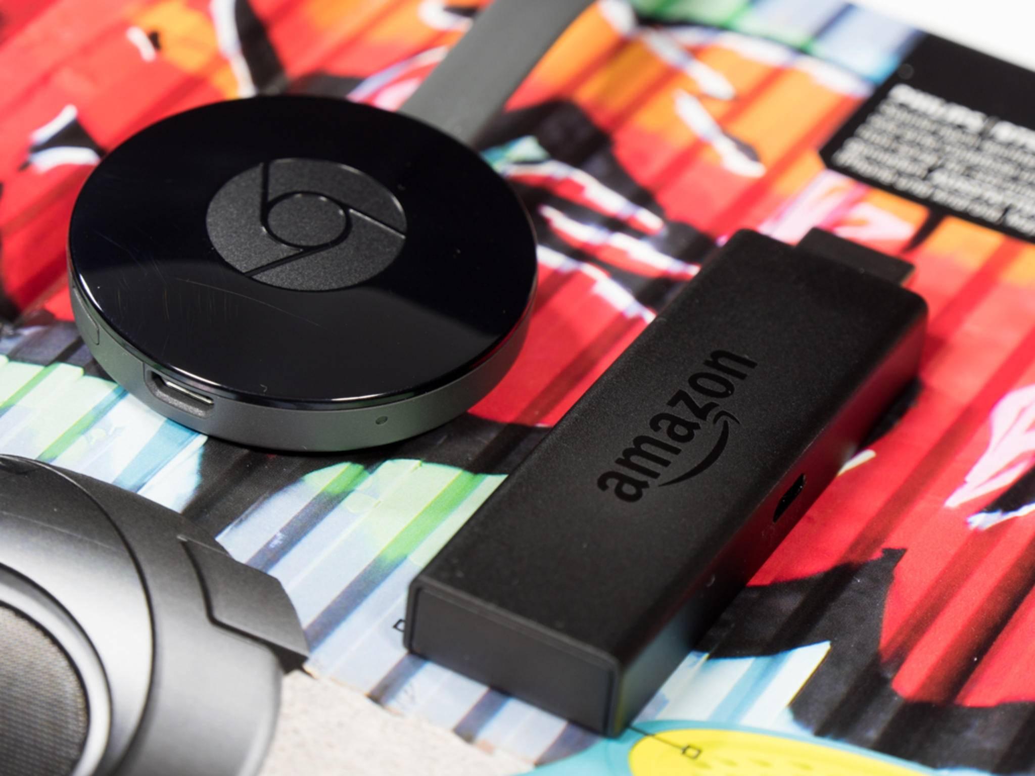 Chromecast und Fire TV Stick versprechen TV-Streaming zum kleinen Preis.