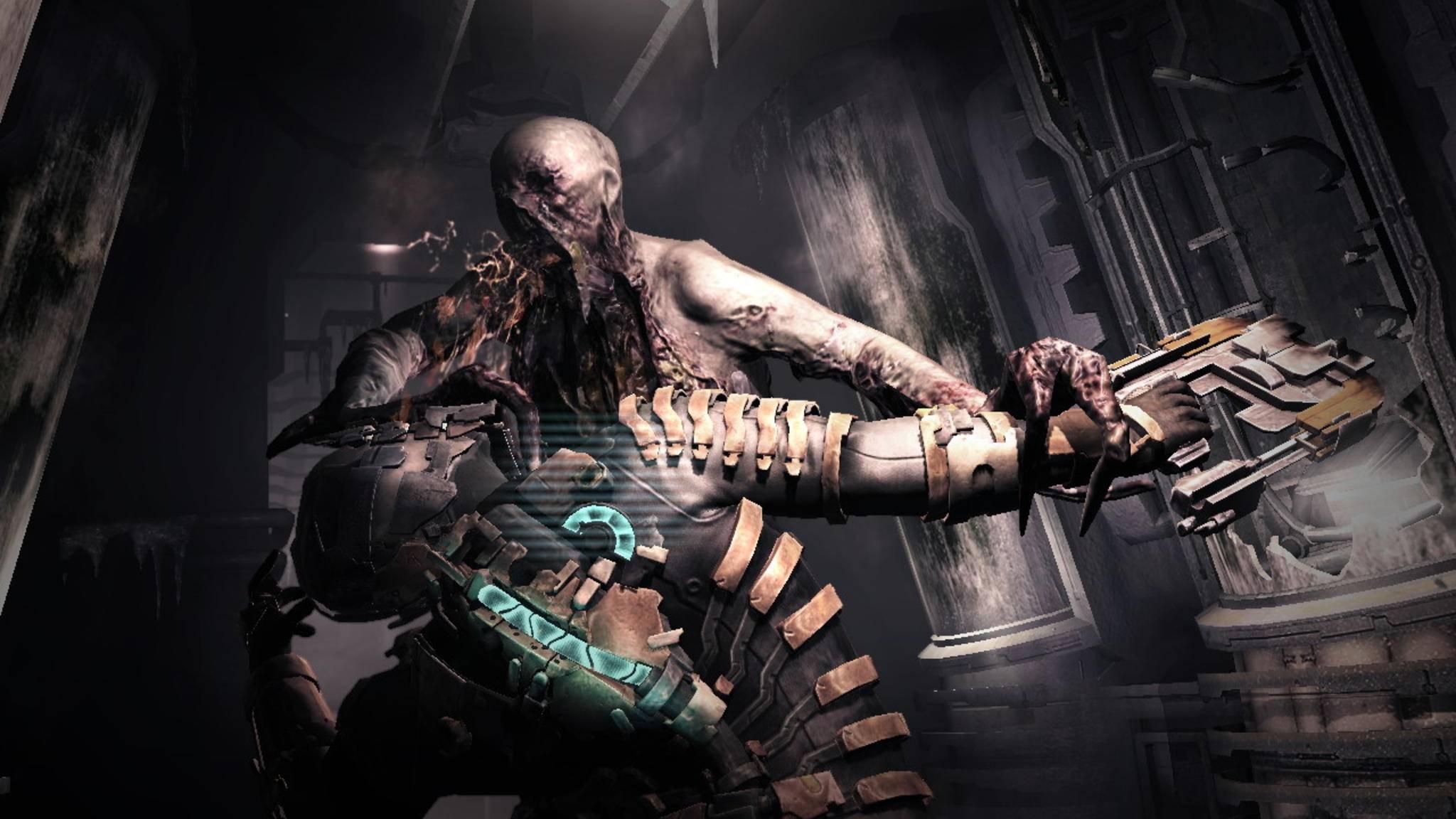 """""""Dead Space"""" gruselt vor allem mit seinen grotesken Zombie-Aliens."""