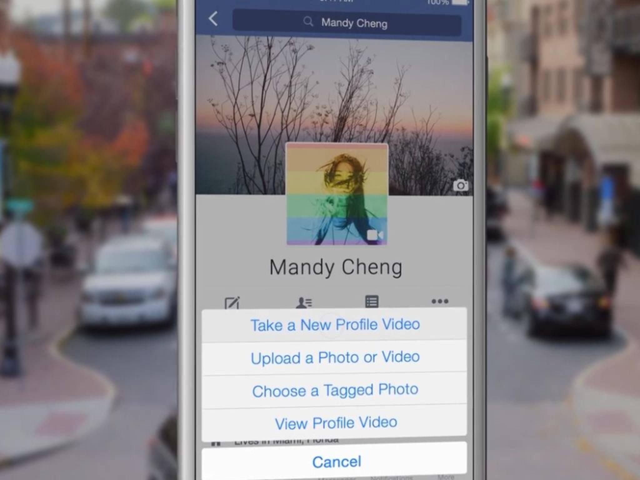 Per Update bekommen Facebook-Nutzer die Möglichkeit von Profilvideos eingeräumt.