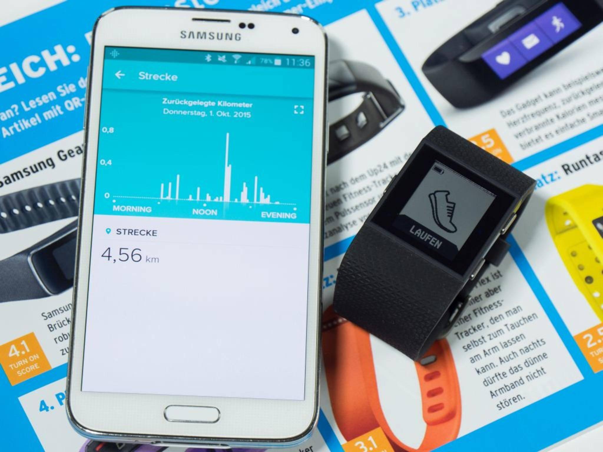 Die Fitbit Surge ist ein idealer Laufpartner dank GPS...