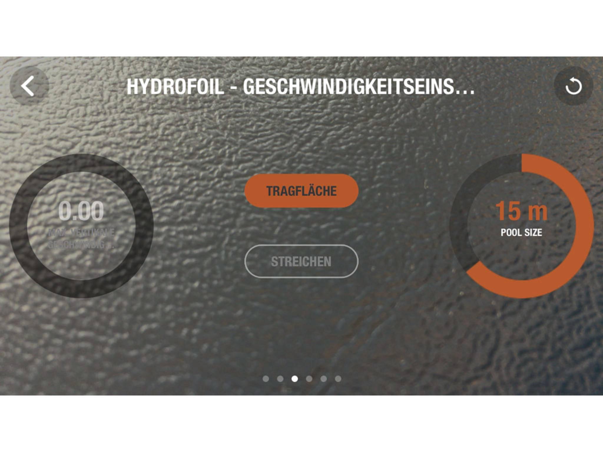 Auch diverse Angaben zur Geschwindigkeit können eingestellt werden.