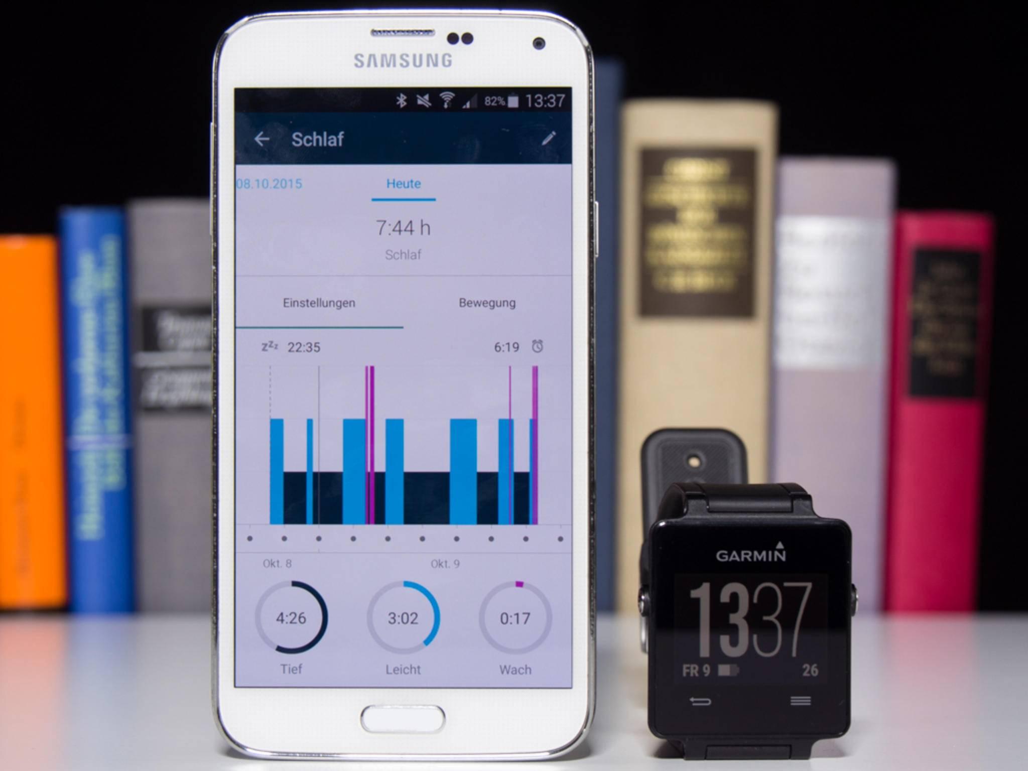 Die Synchronisation via Bluetooth klappte im Test jederzeit problemlos.