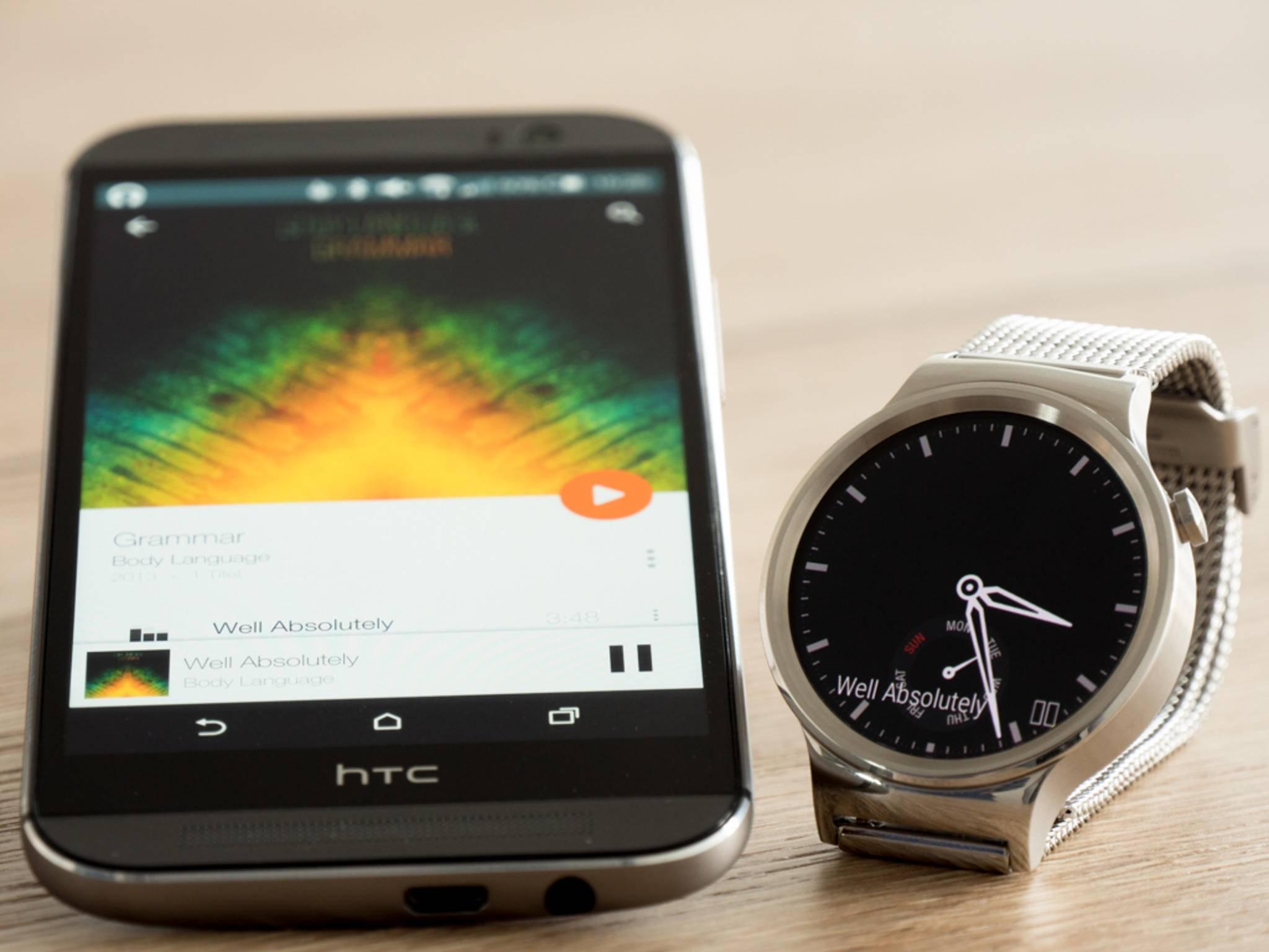 Die Huwei Watch kann genutzt werden, um Musik auf dem Smartphone zu hören.