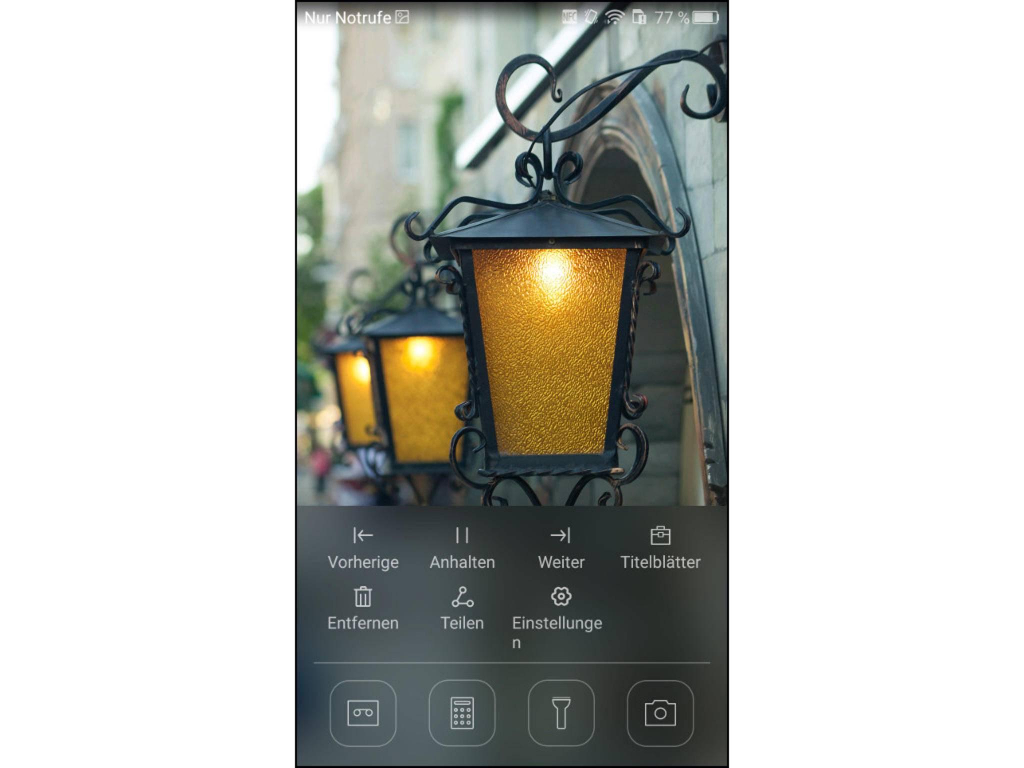 Wie in iOS: Auf dem Startbildschirm gibts ein Kurzmenü.
