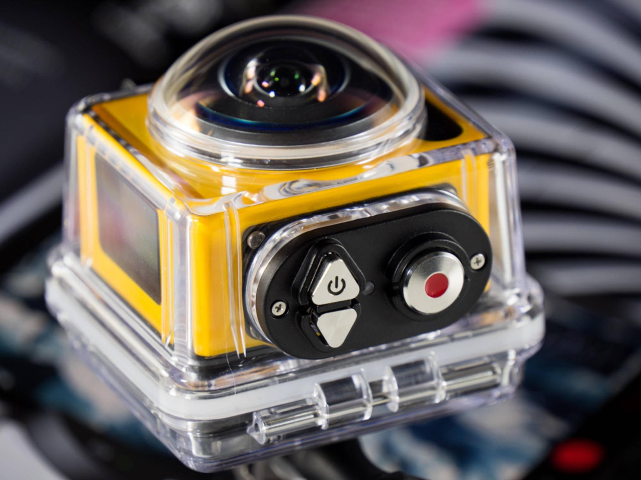 Dieses Zubehör sorgt dafür, dass die Action-Cam auch unter Wasser funktioniert.