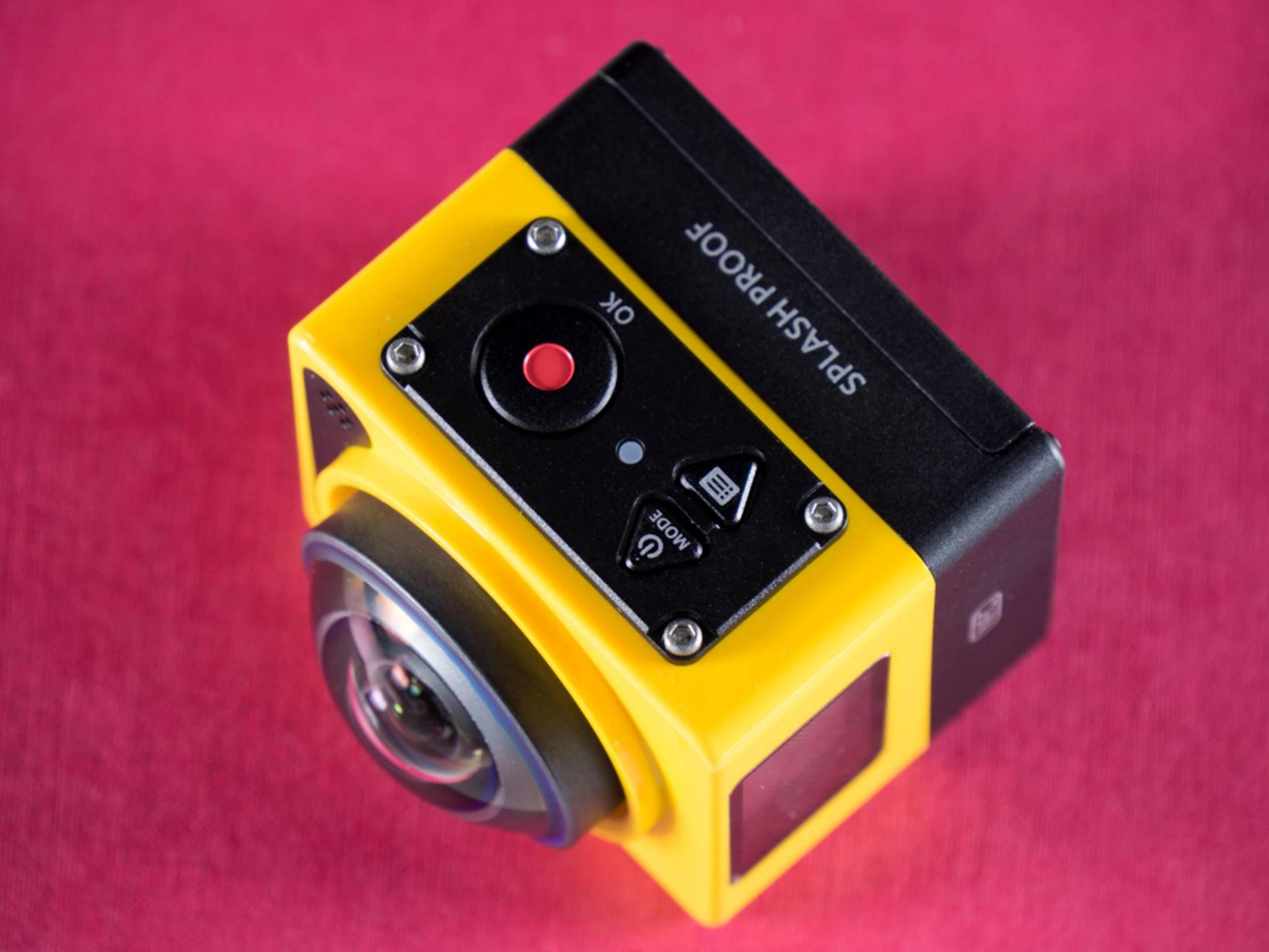 Die Kamera verfügt nur über drei Tasten.