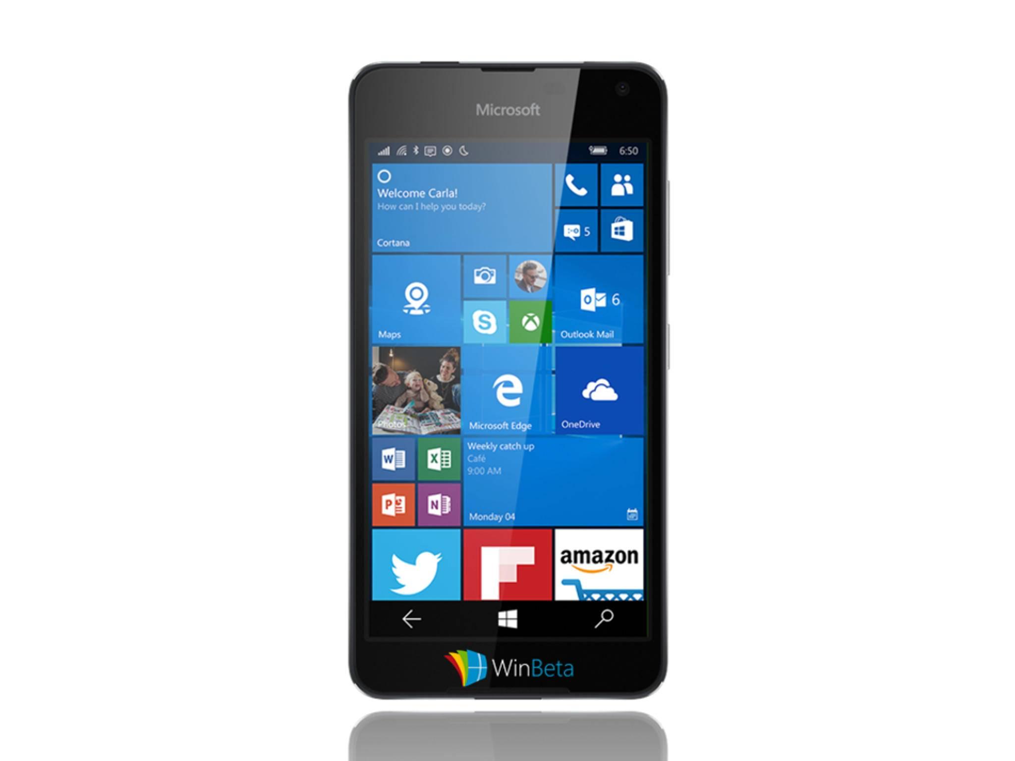 Dieses Leak-Foto des Lumia 650 tauchte am Donnerstag auf.
