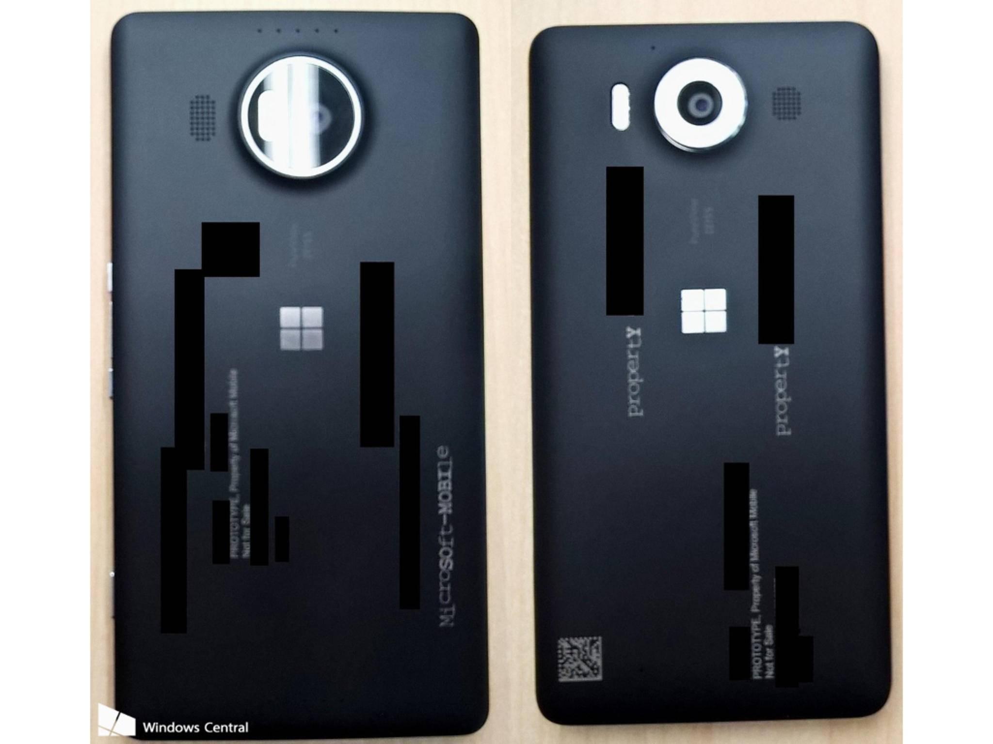 Das Lumia 950 von hinten.