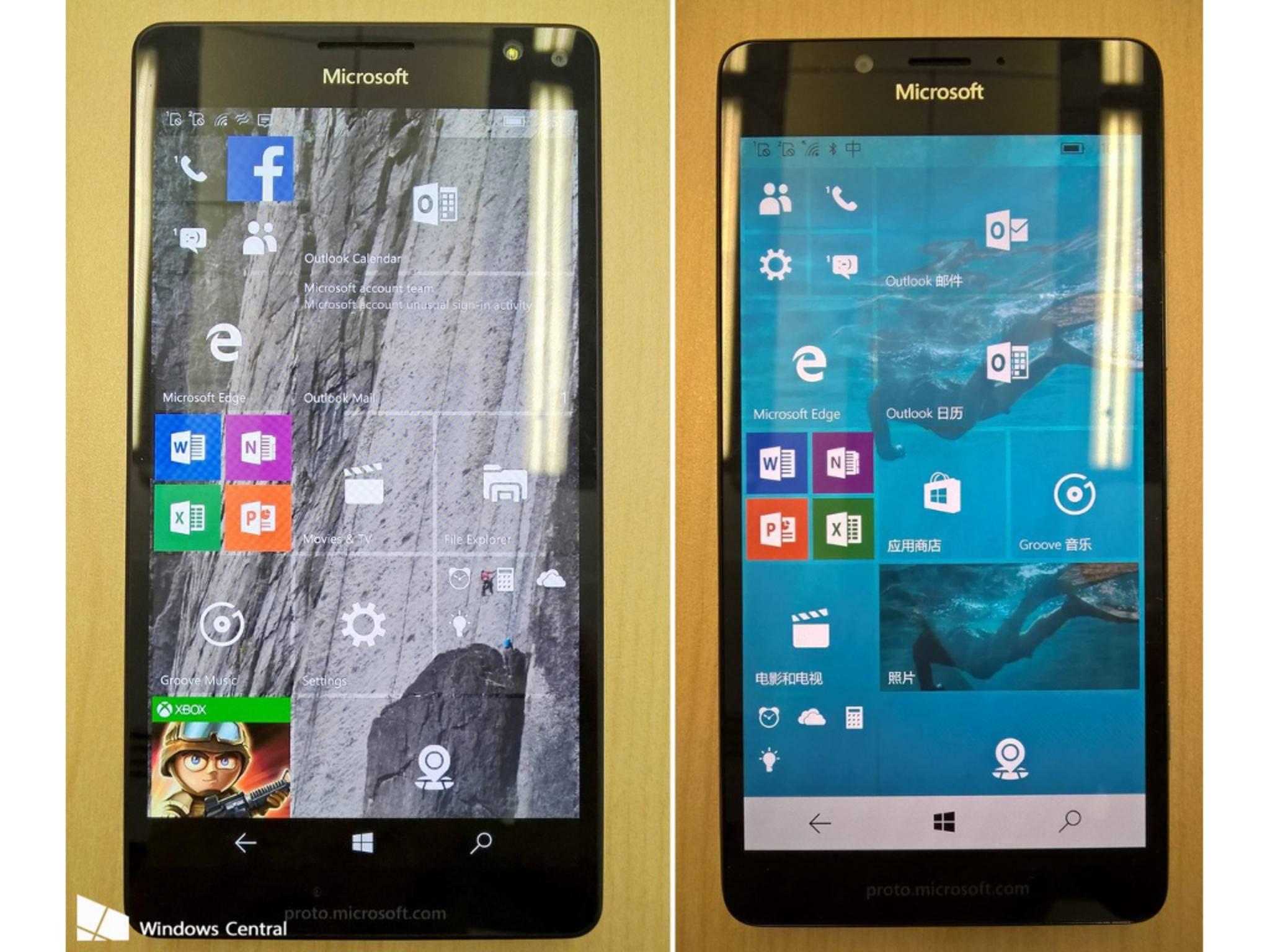 Das Lumia 950 von vorne.