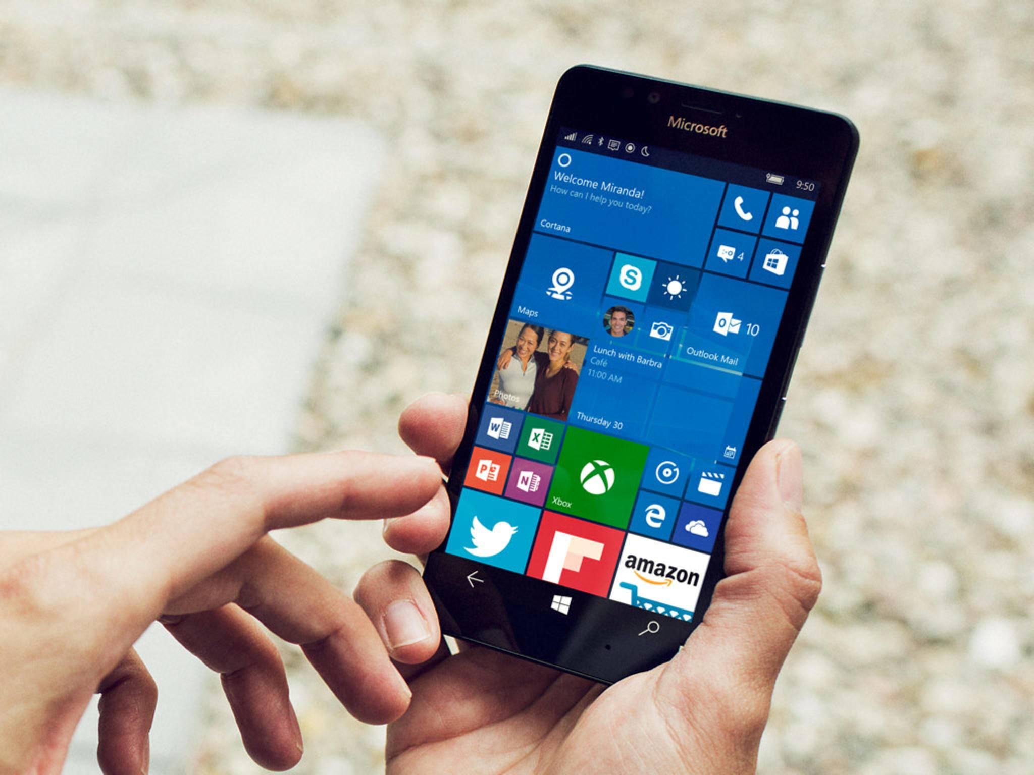 Das Lumia 950 soll Microsoft wieder auf die Erfolgsspur bringen.