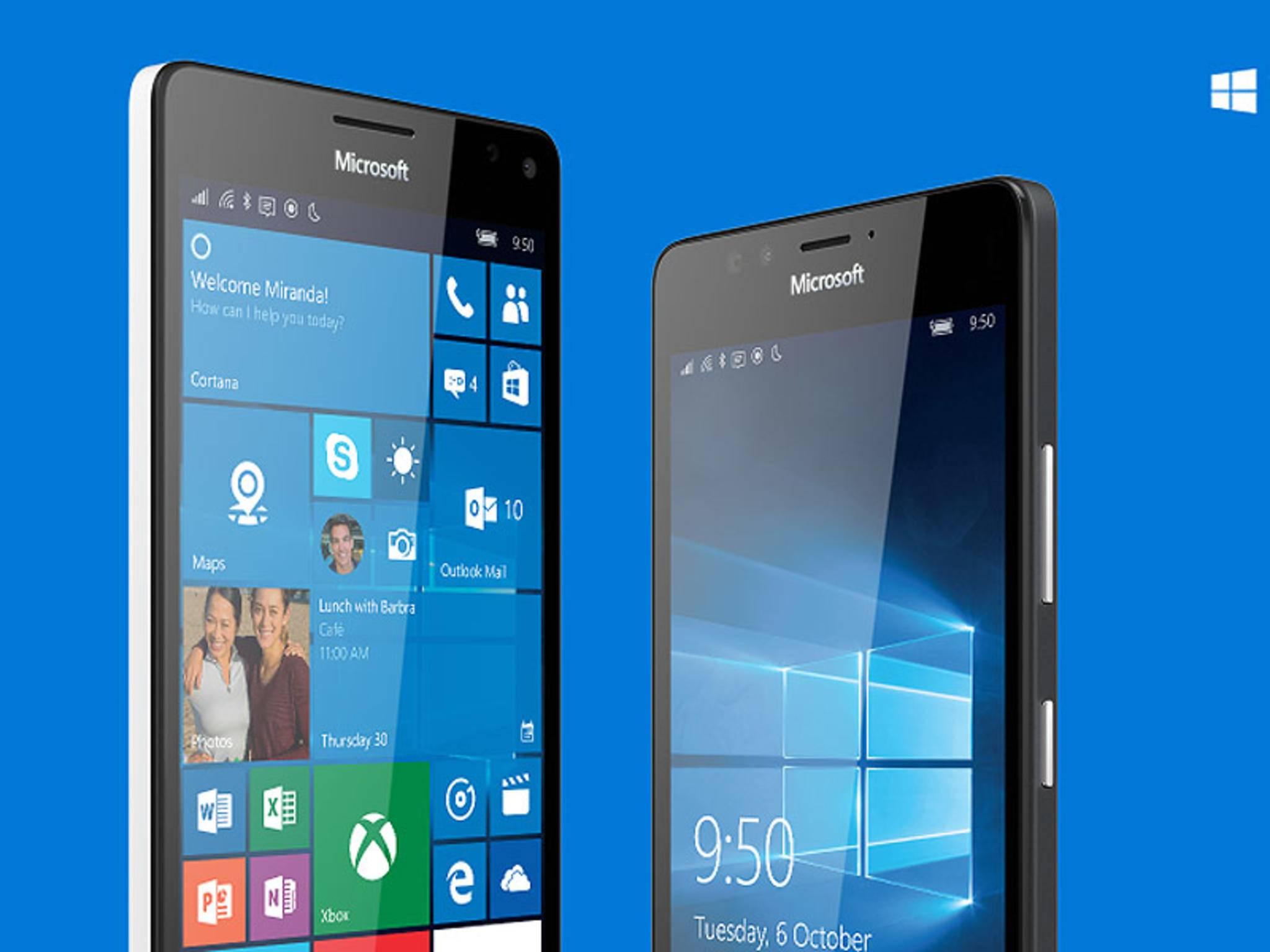 So sehen die neuen Smartphones Lumia 950 und Lumia 950 XL aus.