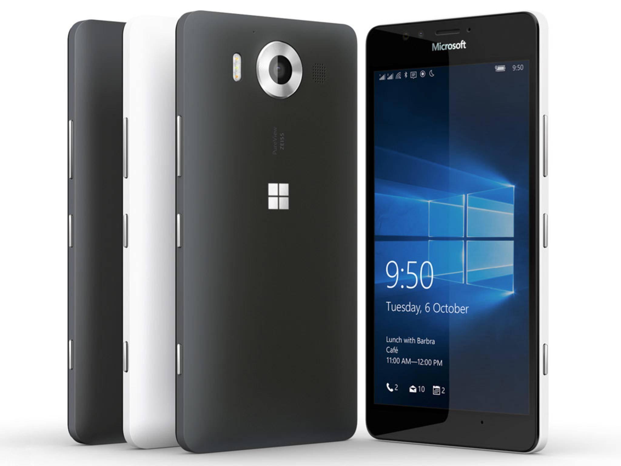 Microsoft enthüllte seine Smartphone-Flaggschiffe Lumia 950 und Lumia 950 XL.