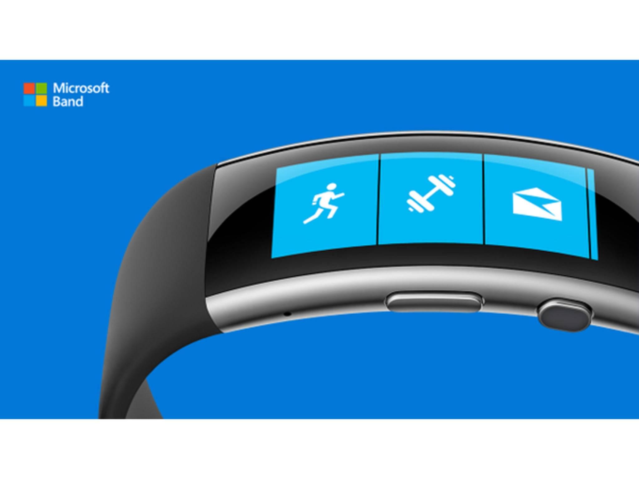 Das neue Microsoft Band mit Curved-Screen.