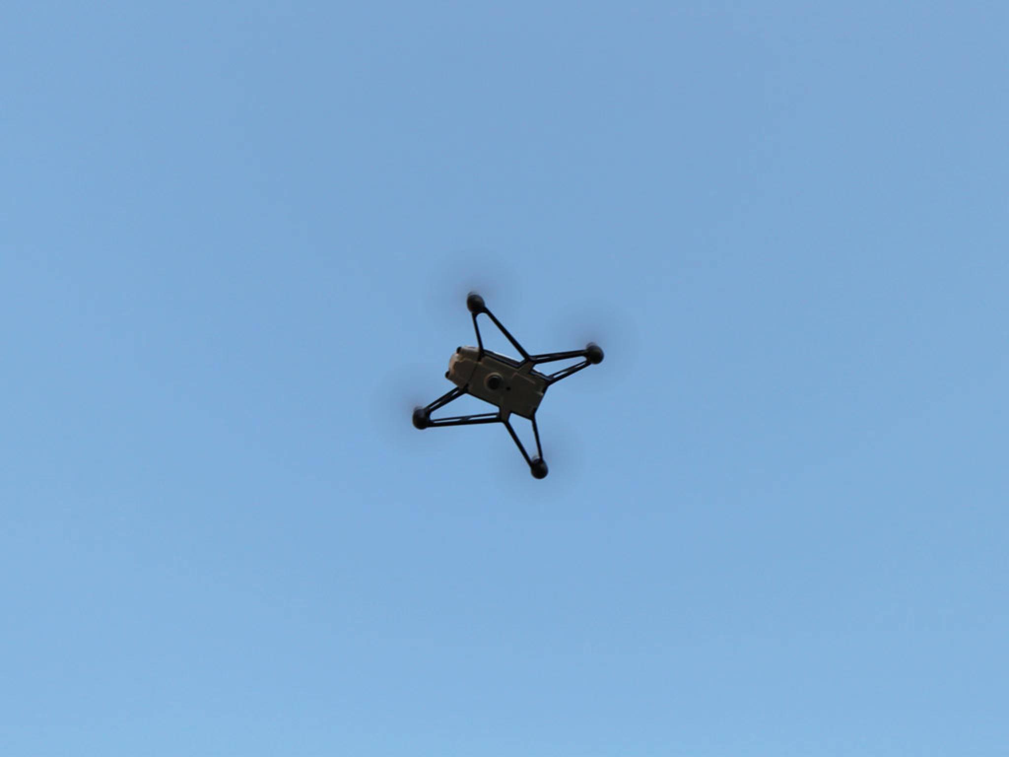 Während des Fluges sind Aufnahmen aus luftiger Höhe möglich.