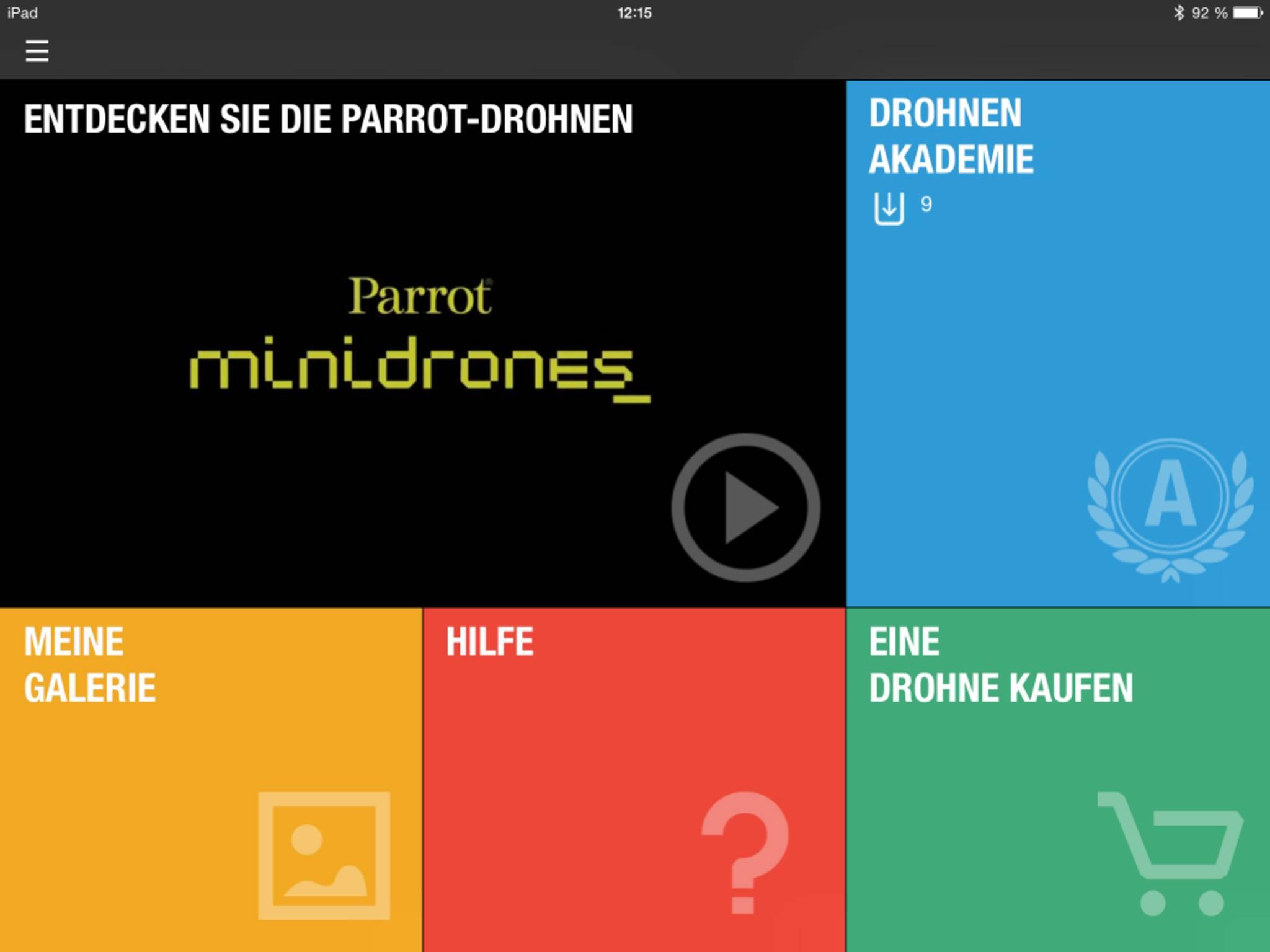 Gesteuert wird die Parrot-Drohne via App.