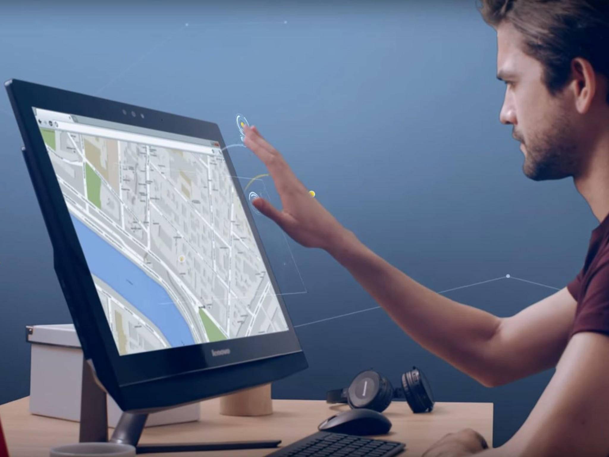 Realsense 3D ermöglicht die Gestensteuerung für Computer.