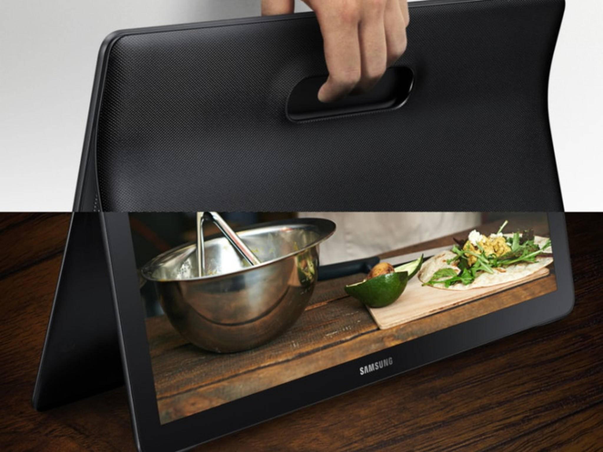 Das Samsung Galaxy View macht als Tablet dem Fernseher Konkurrenz.