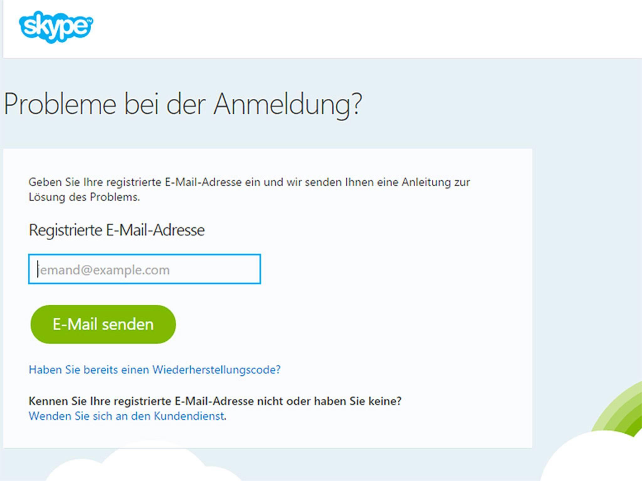 """Dann musst Du lediglich Deine E-Mail-Adresse angeben und auf """"E-Mail senden"""" klicken."""