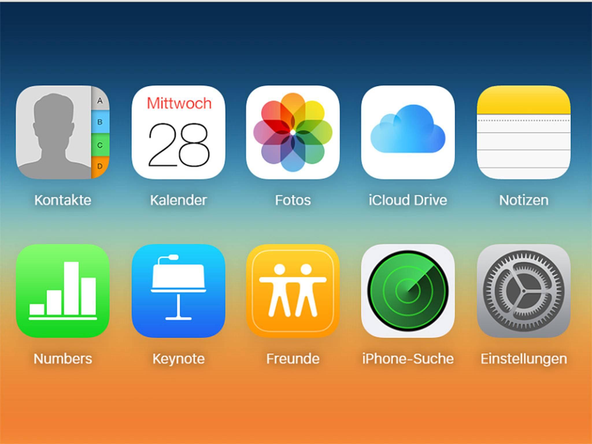 Nach dem Login musst Du nur noch iCloud Drive auswählen.