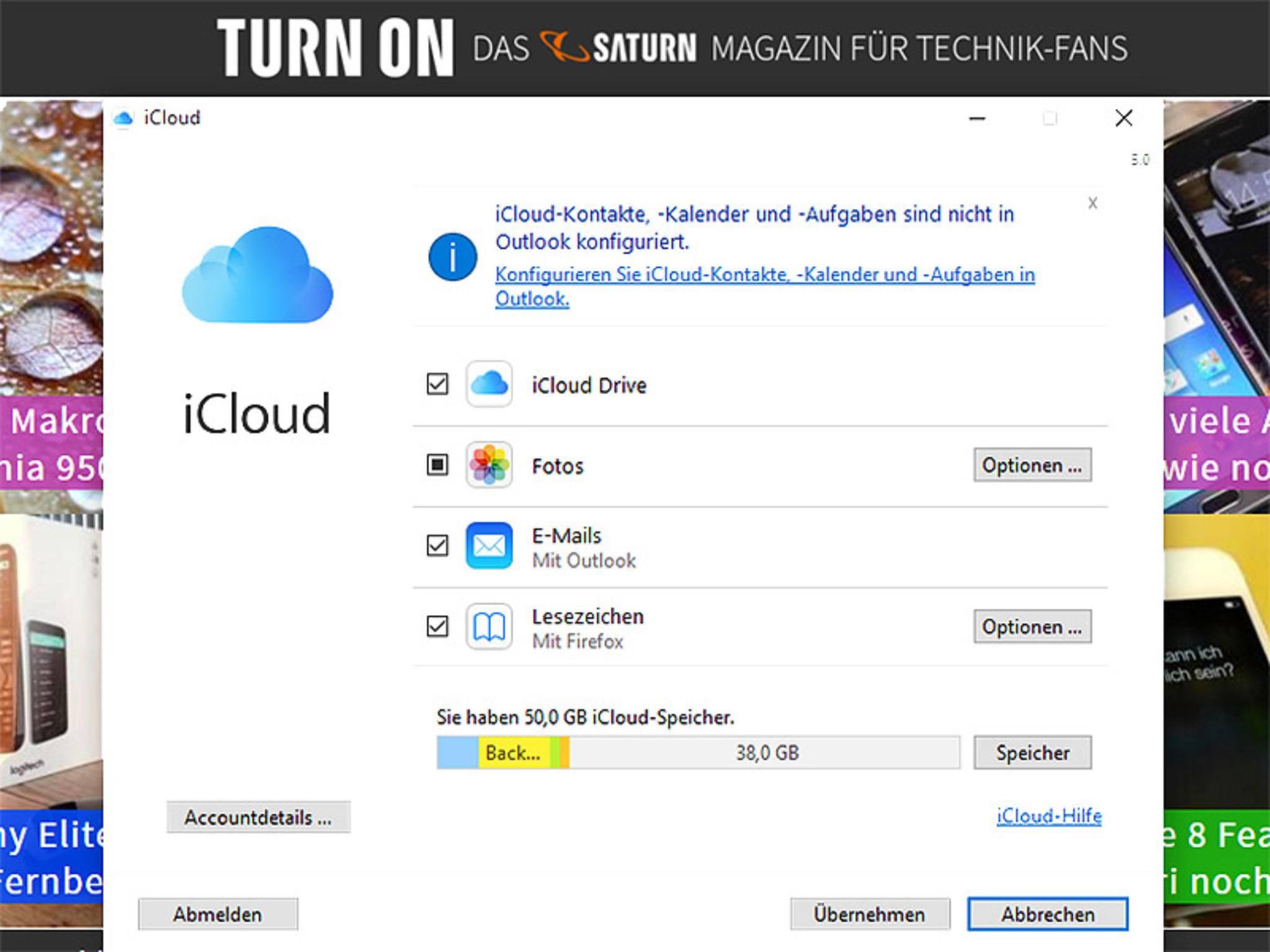 Auch für Windows gibt es ein eigenes Programm für die iCloud-Synchronisation.