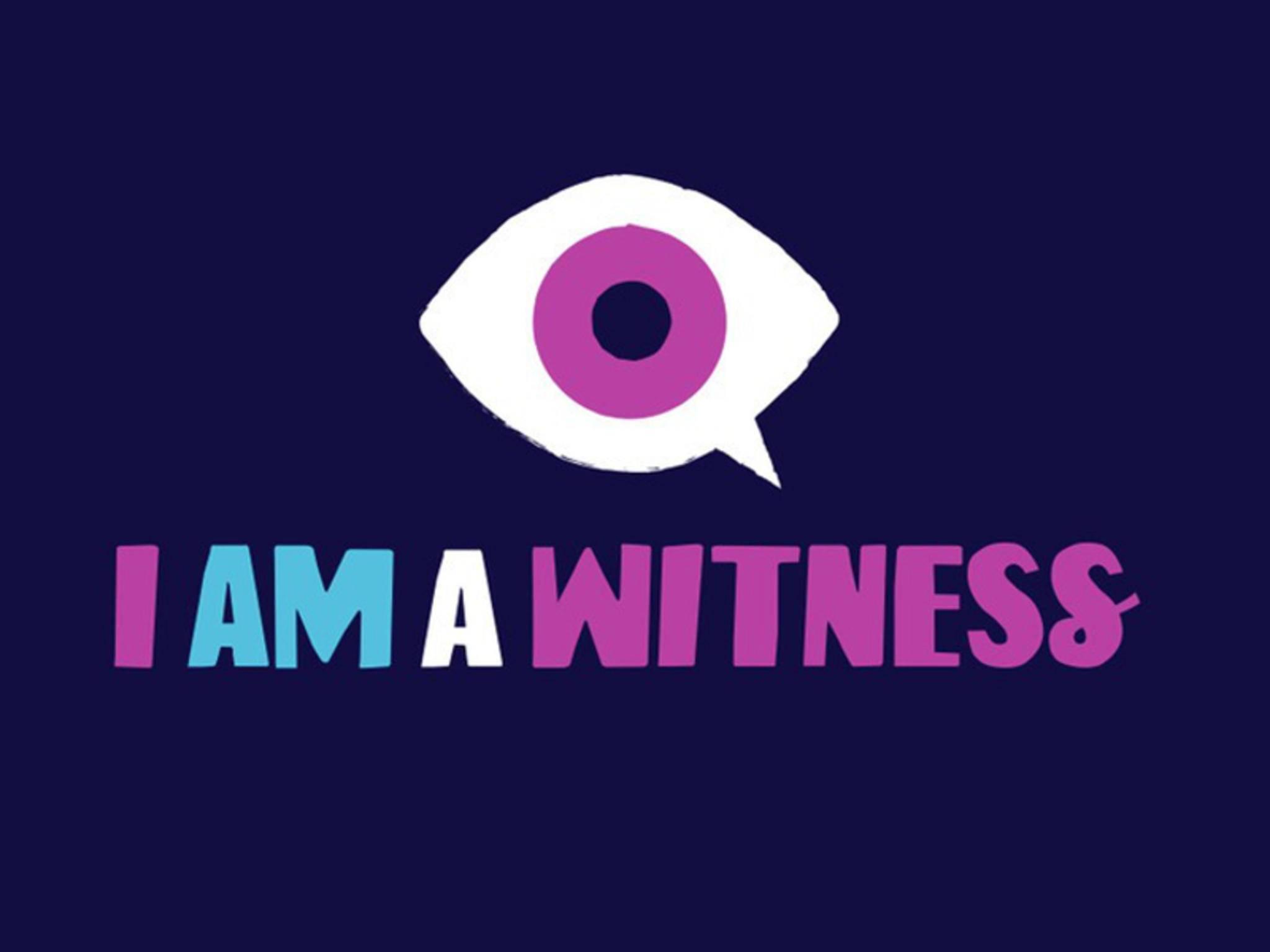 """Das Auge steht für die Anti-Bullying-Kampagne """"I Am A Witness""""."""