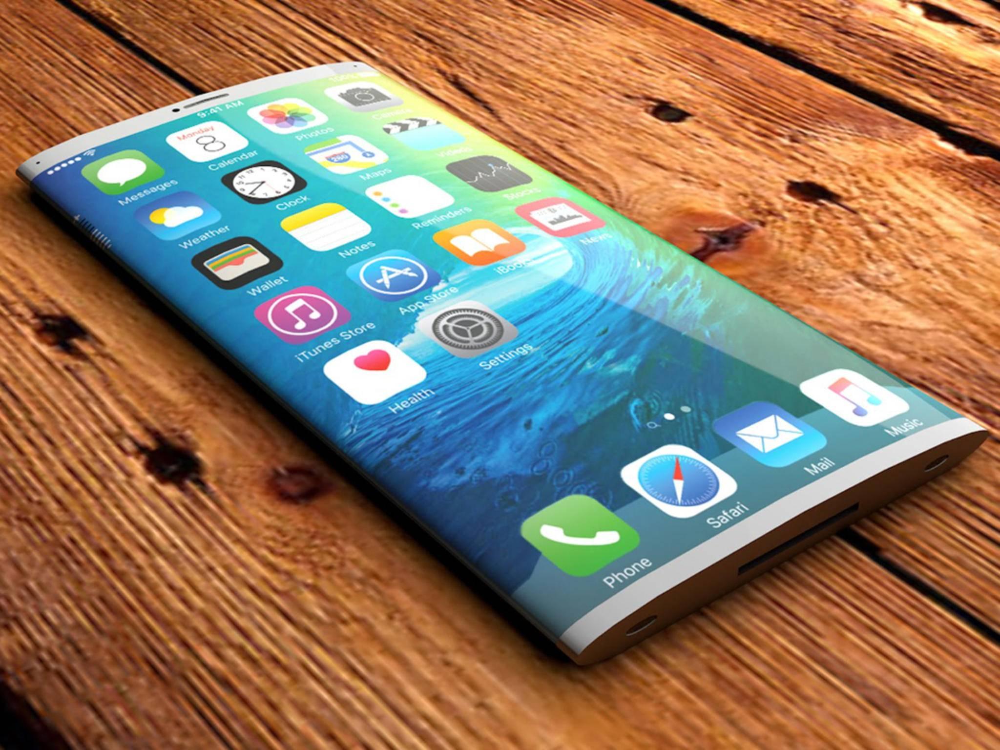 Mit OLED wäre so ein iPhone-Display theoretisch möglich.