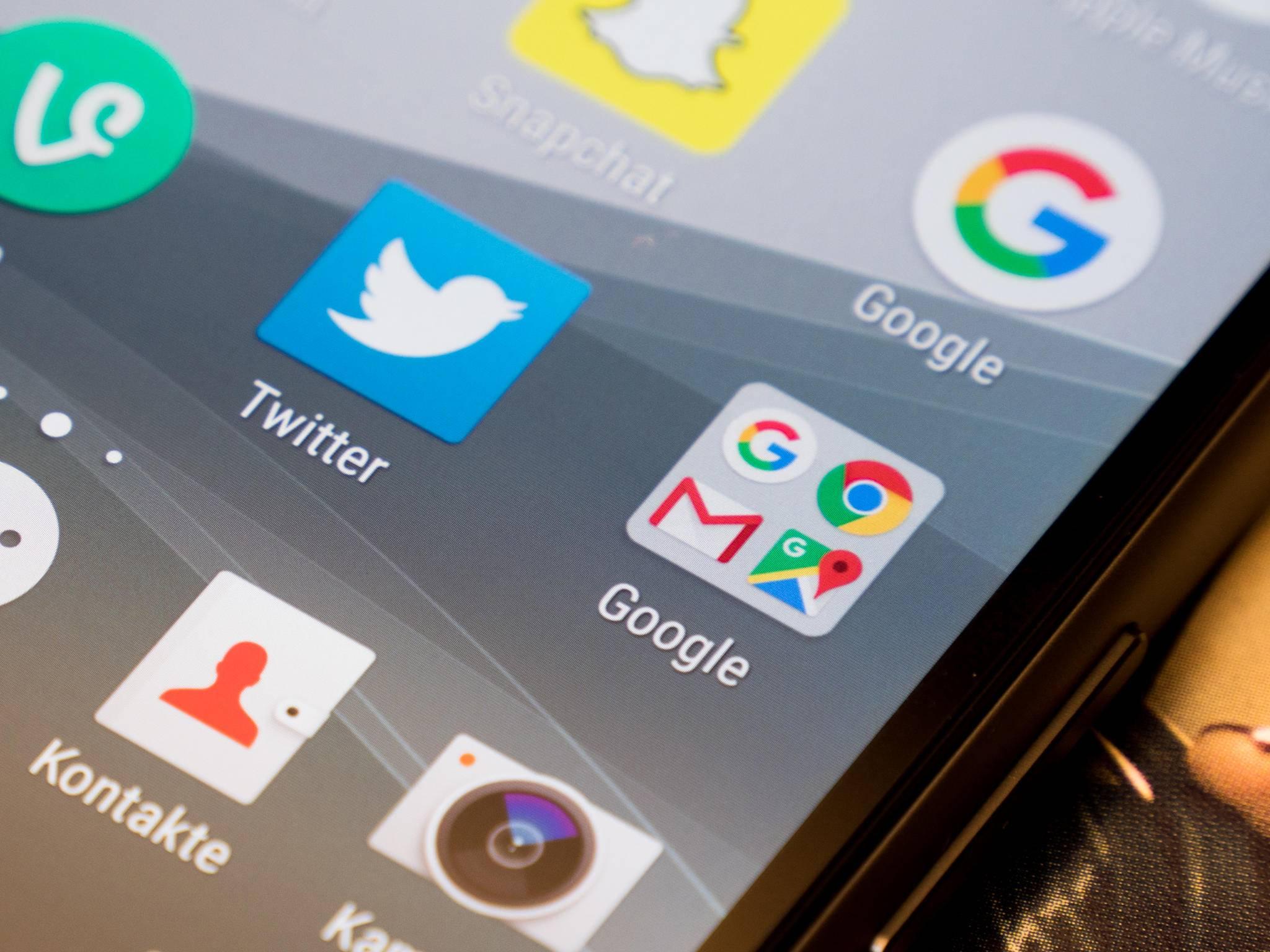 Twitter, Google-Dienste