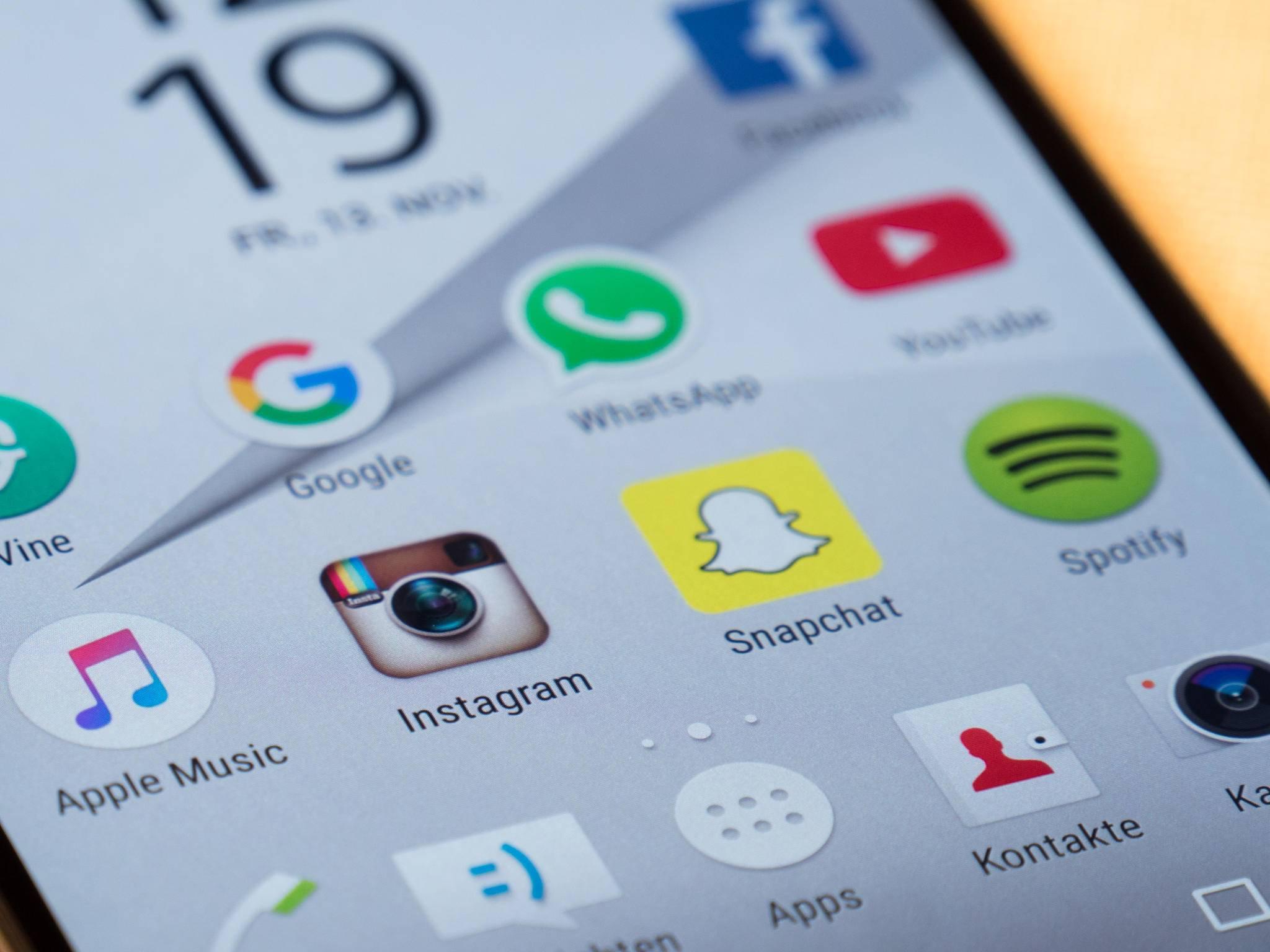 Instagram, Snapchat, Apps