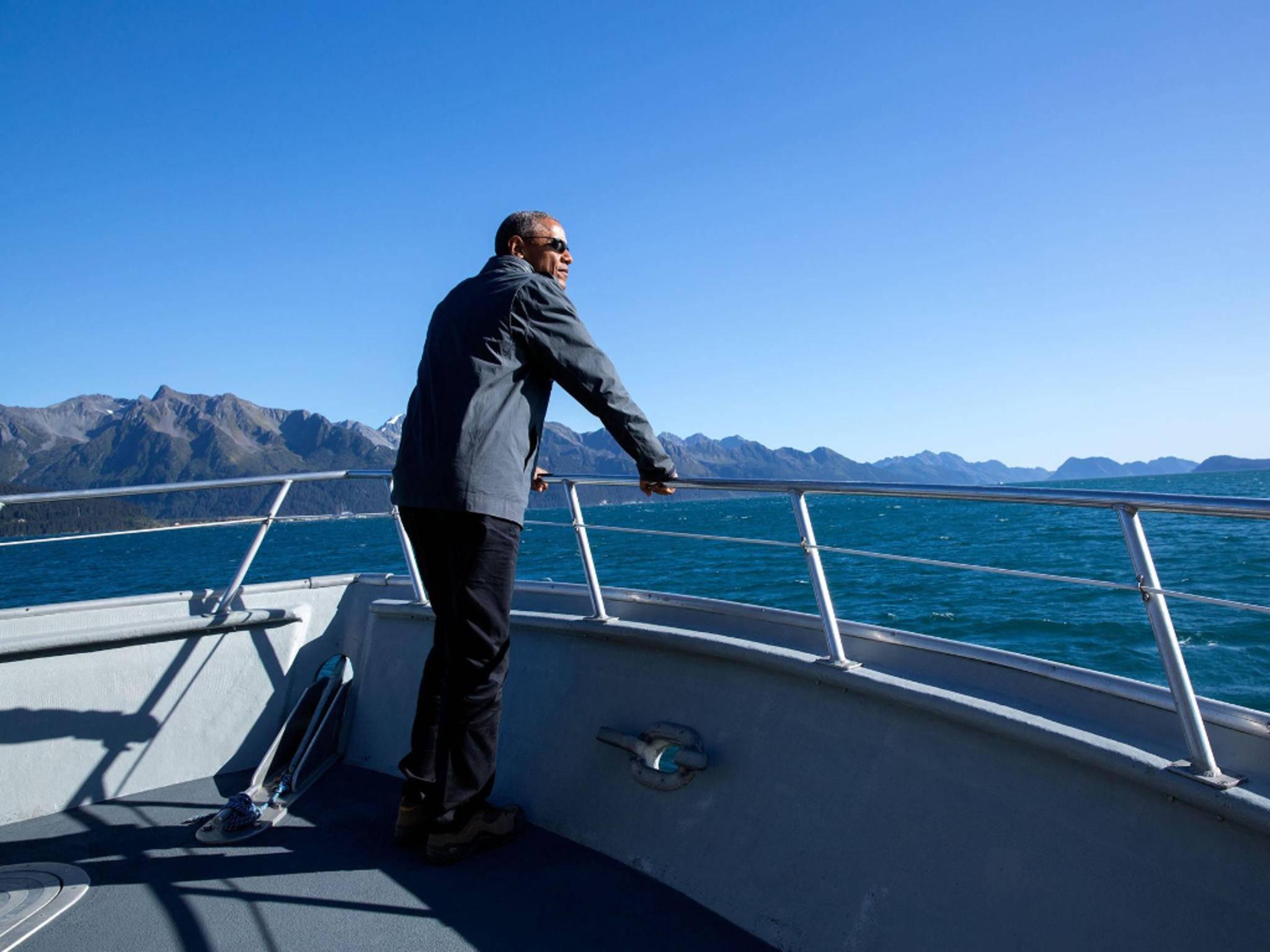 Eines der ersten Fotos auf Obamas persönlicher Facebook-Seite.