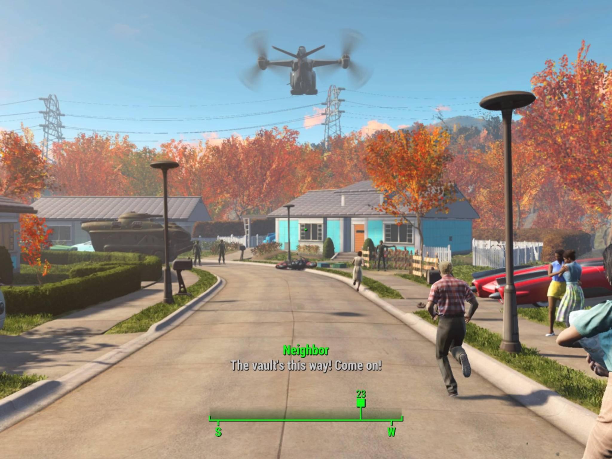 """Bald wird man sich in der Welt von """"Fallout 4"""" mit einer VR-Brille bewegen können."""