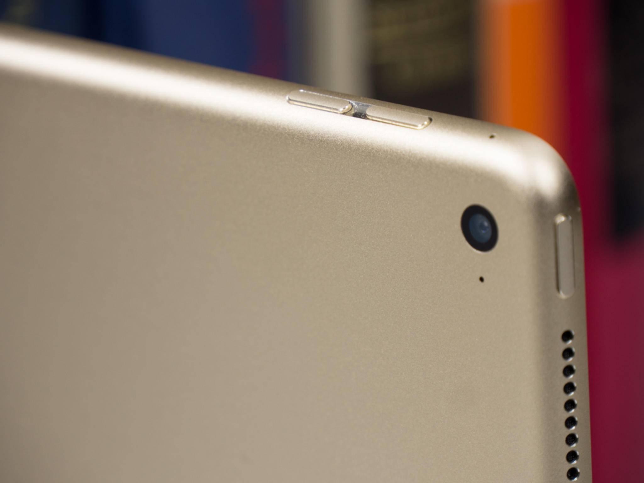 Das iPad Pro in Gold. Alternativ stehen Silber und Space Grau zur Wahl.